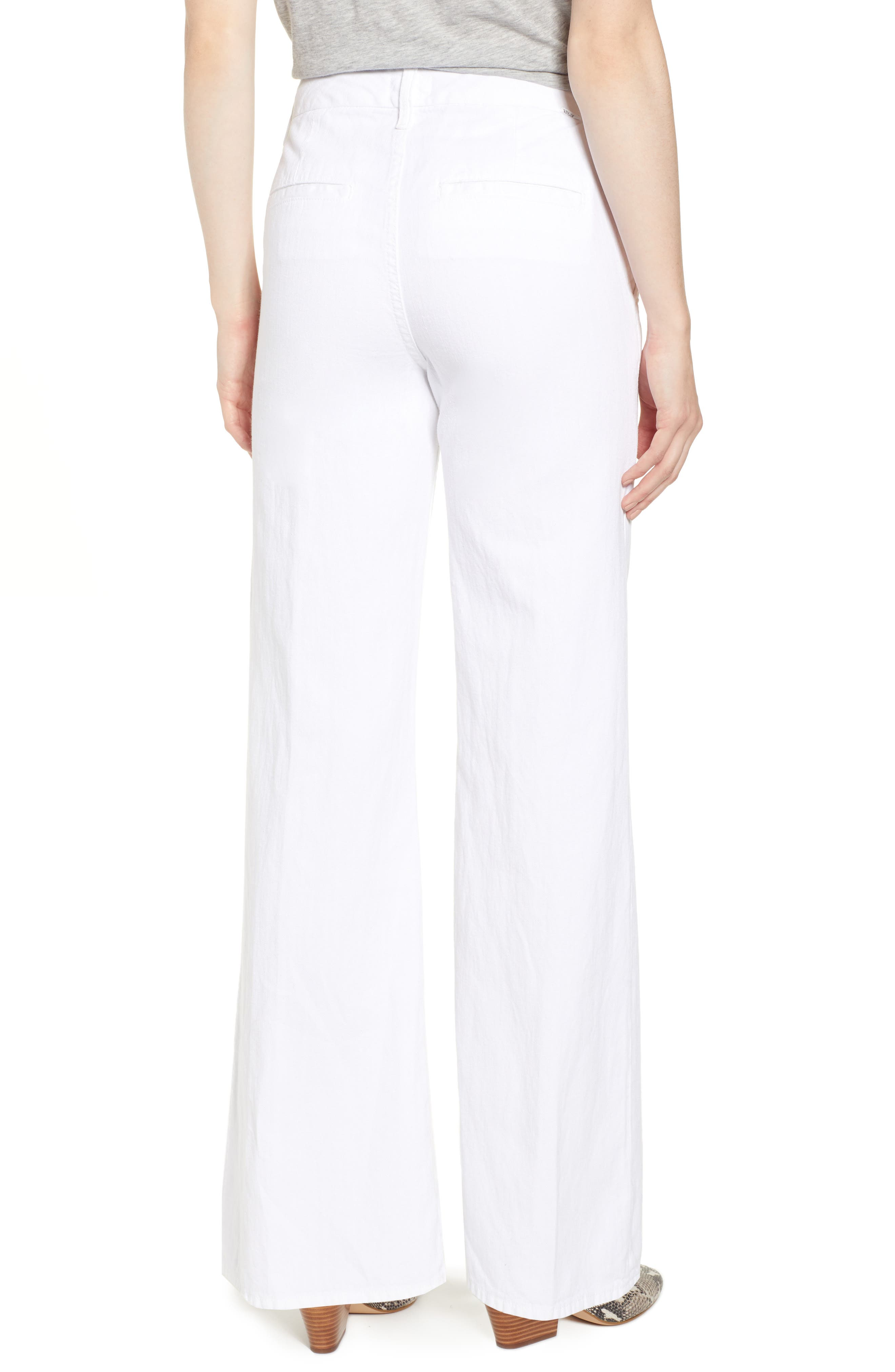 MOTHER,                             The Tie-Up Roller Wide Leg Twill Pants,                             Alternate thumbnail 2, color,                             RETURN TO THE ISLAND