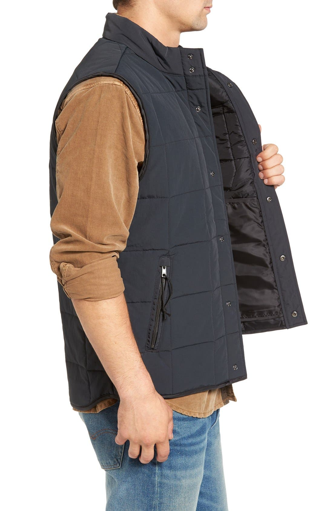 Quilted Vest,                             Alternate thumbnail 3, color,                             001