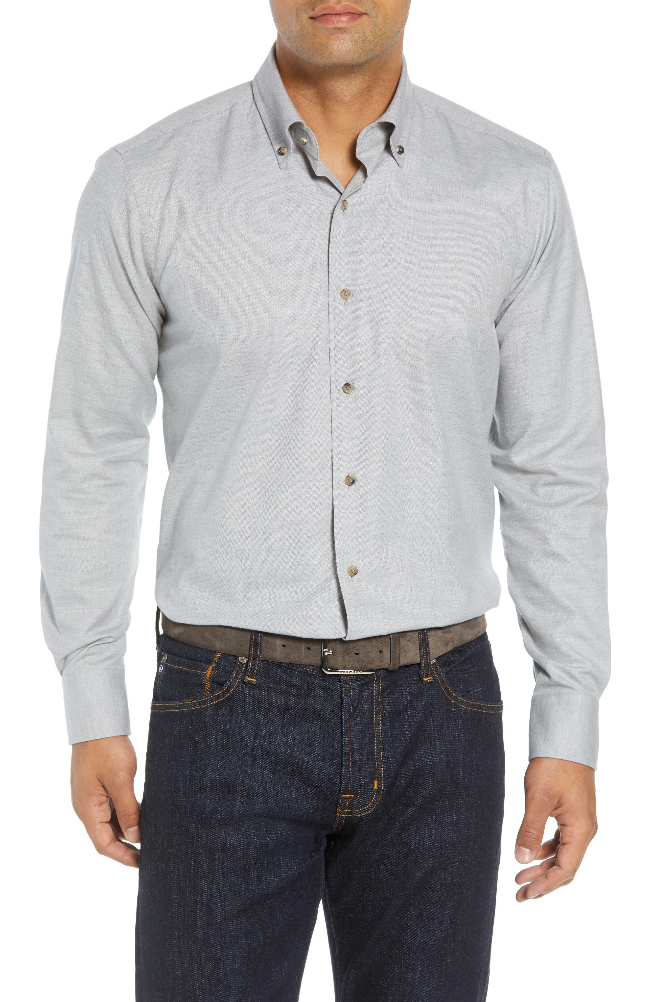 Hamra Regular Fit Sport Shirt,                             Main thumbnail 1, color,                             PLATINUM