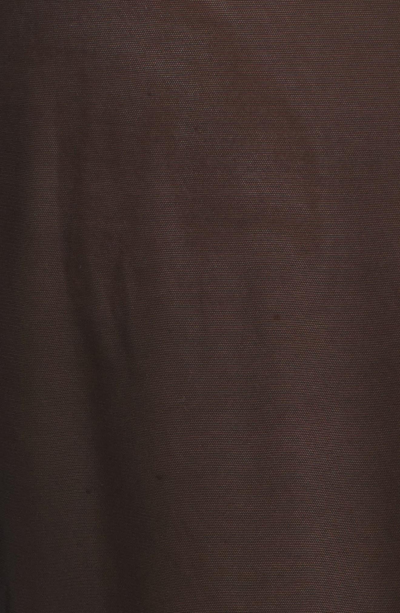 Nicolette Sheer Robe & G-String,                             Alternate thumbnail 5, color,                             BLACK