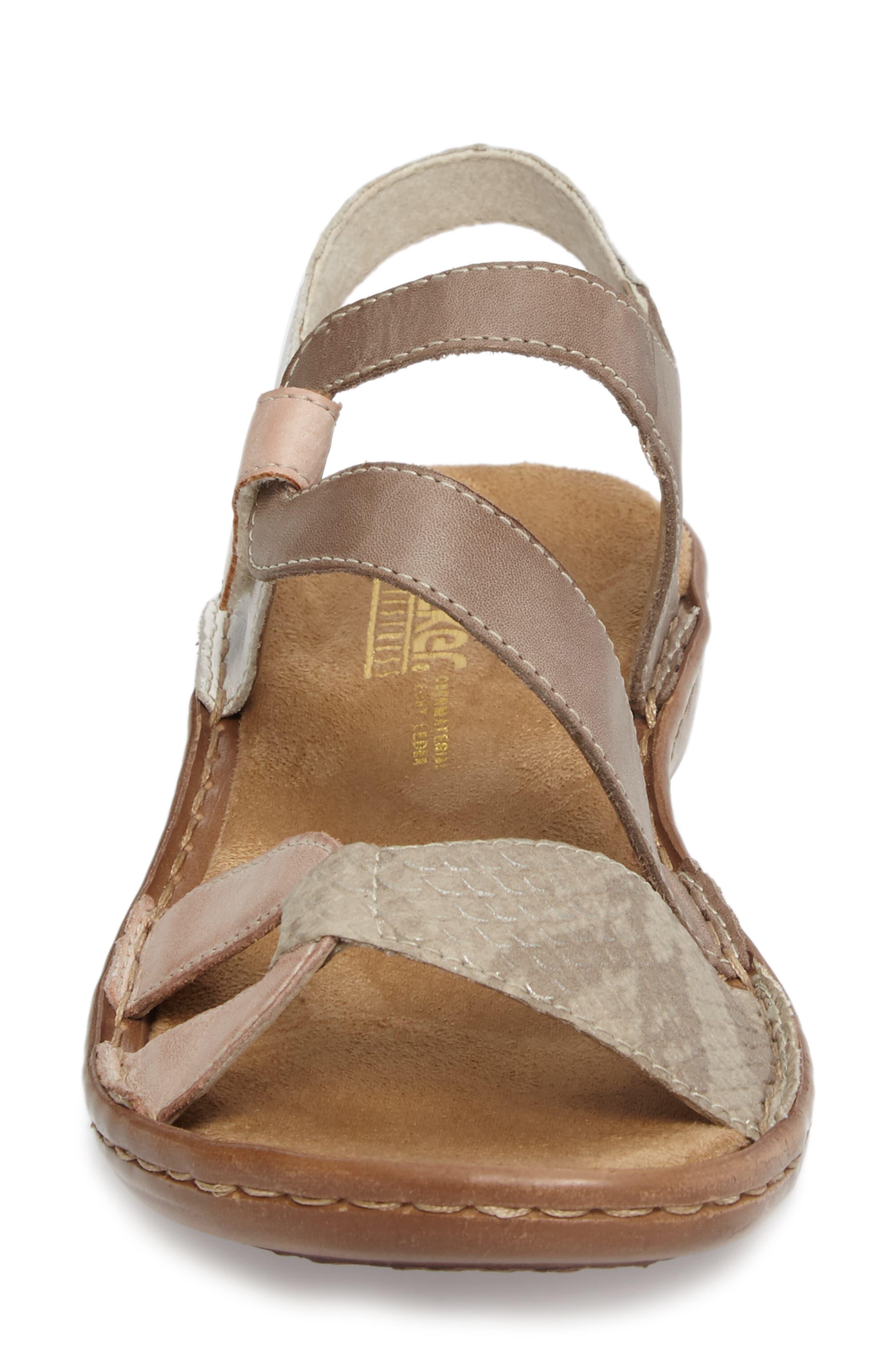 Regina 66 Wedge Sandal,                             Alternate thumbnail 4, color,                             ROSE LEATHER