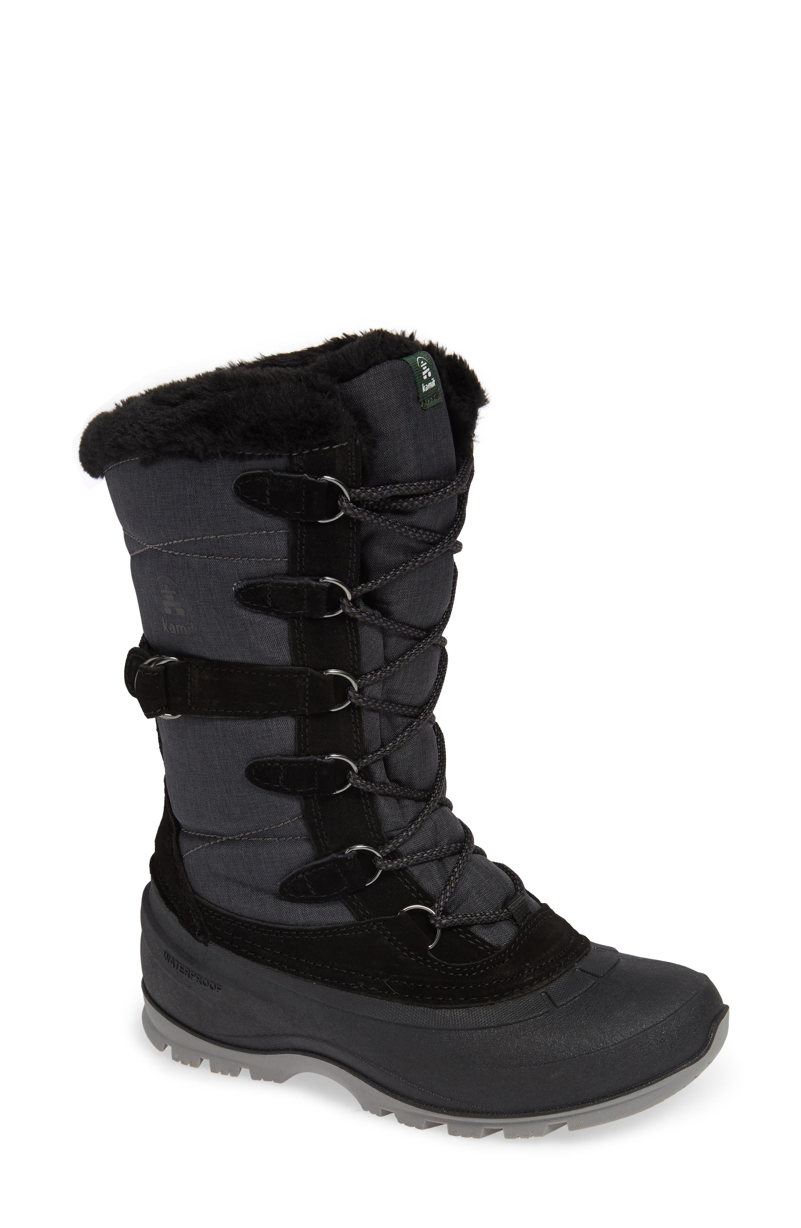 Snovalley2 Waterproof Thinsulate<sup>®</sup>-Insulated Snow Boot,                             Main thumbnail 1, color,                             BLACK