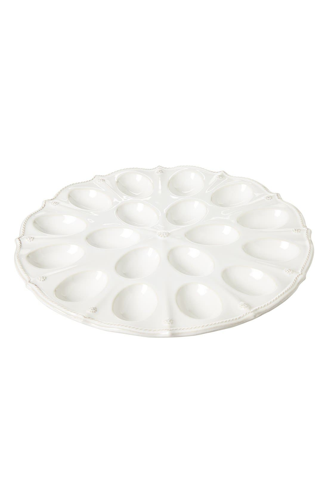 'Berry and Thread' Egg Platter,                         Main,                         color, WHITEWASH