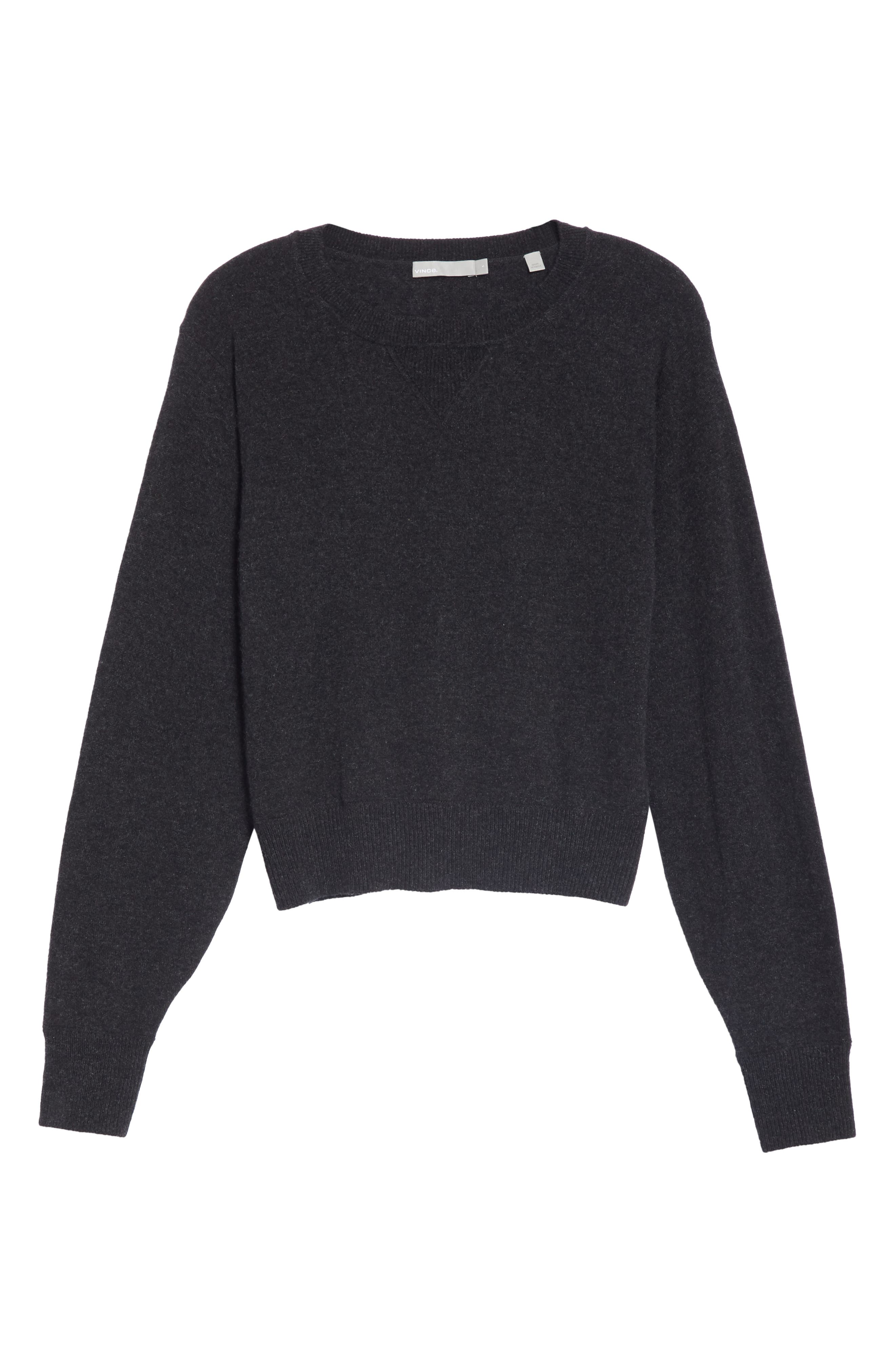 Wool & Cashmere Sweater,                             Alternate thumbnail 6, color,                             CHARCOAL