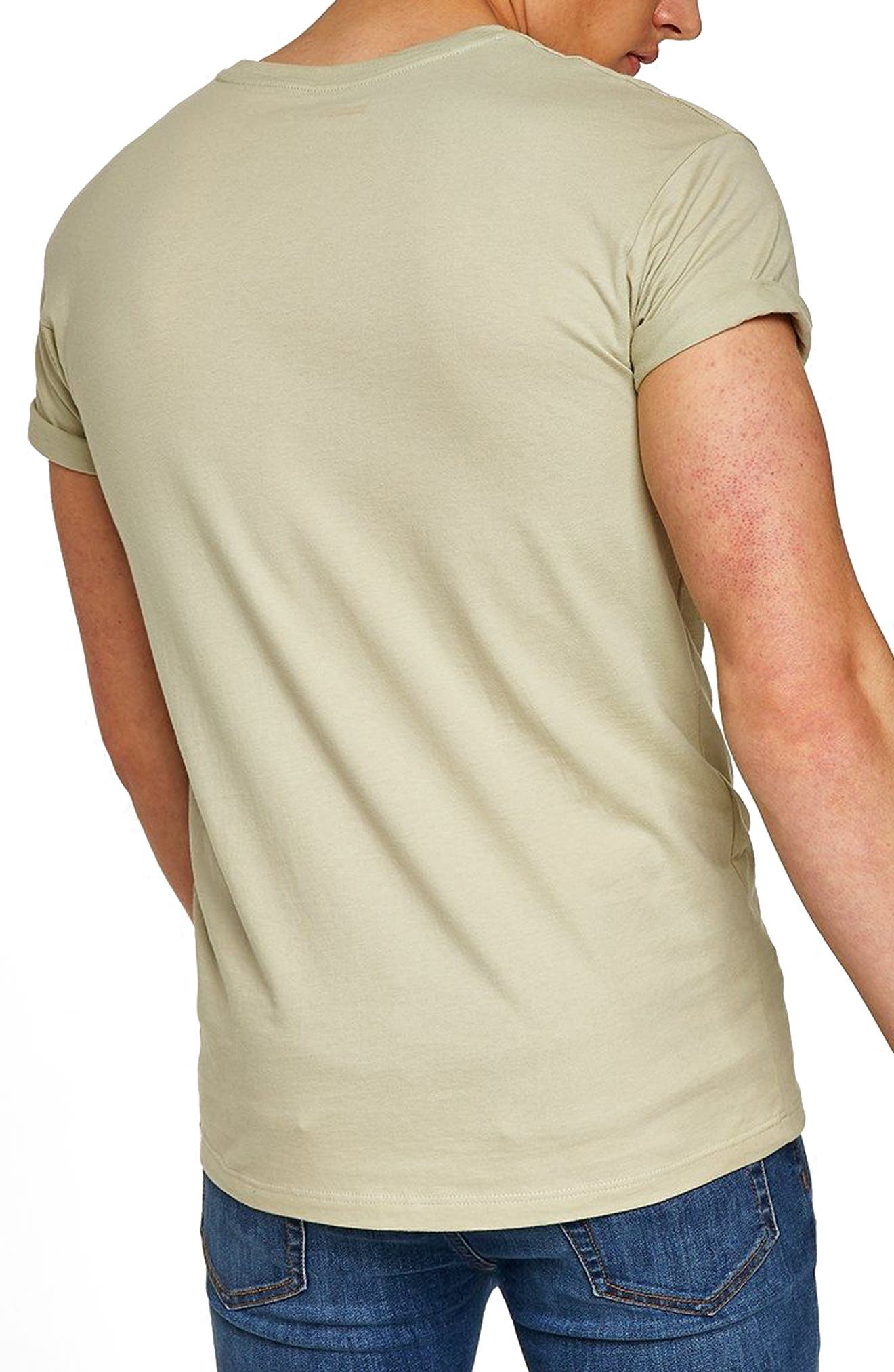 Muscle Fit Roller T-Shirt,                             Alternate thumbnail 2, color,                             330