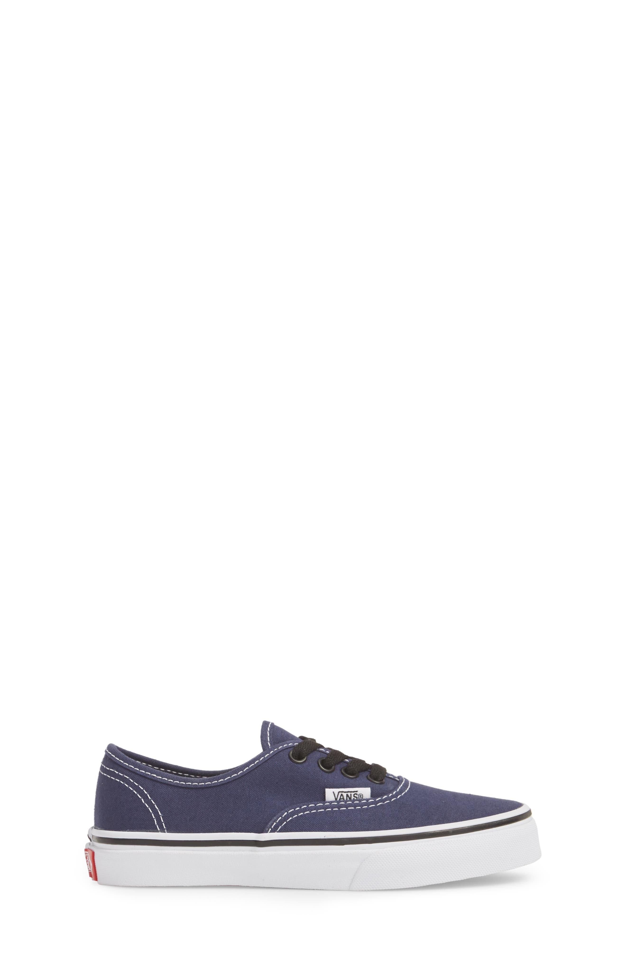 Authentic Sneaker,                             Alternate thumbnail 3, color,                             MEDIEVAL BLUE/ BLACK