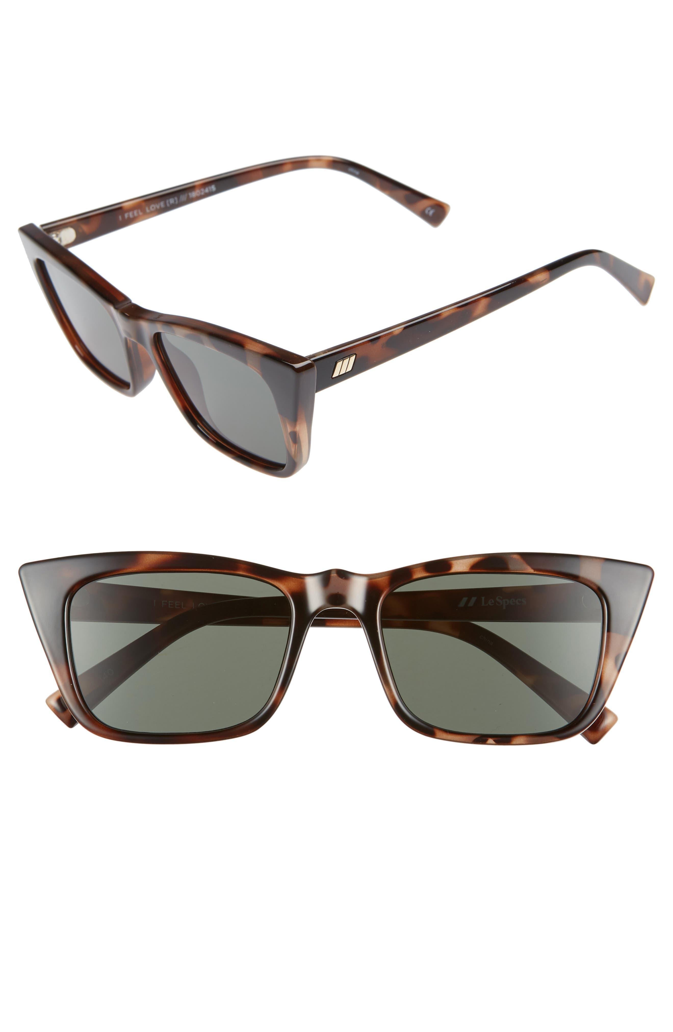I Feel Love 51mm Cat Eye Sunglasses,                             Main thumbnail 1, color,                             VOLCANIC TORTOISE