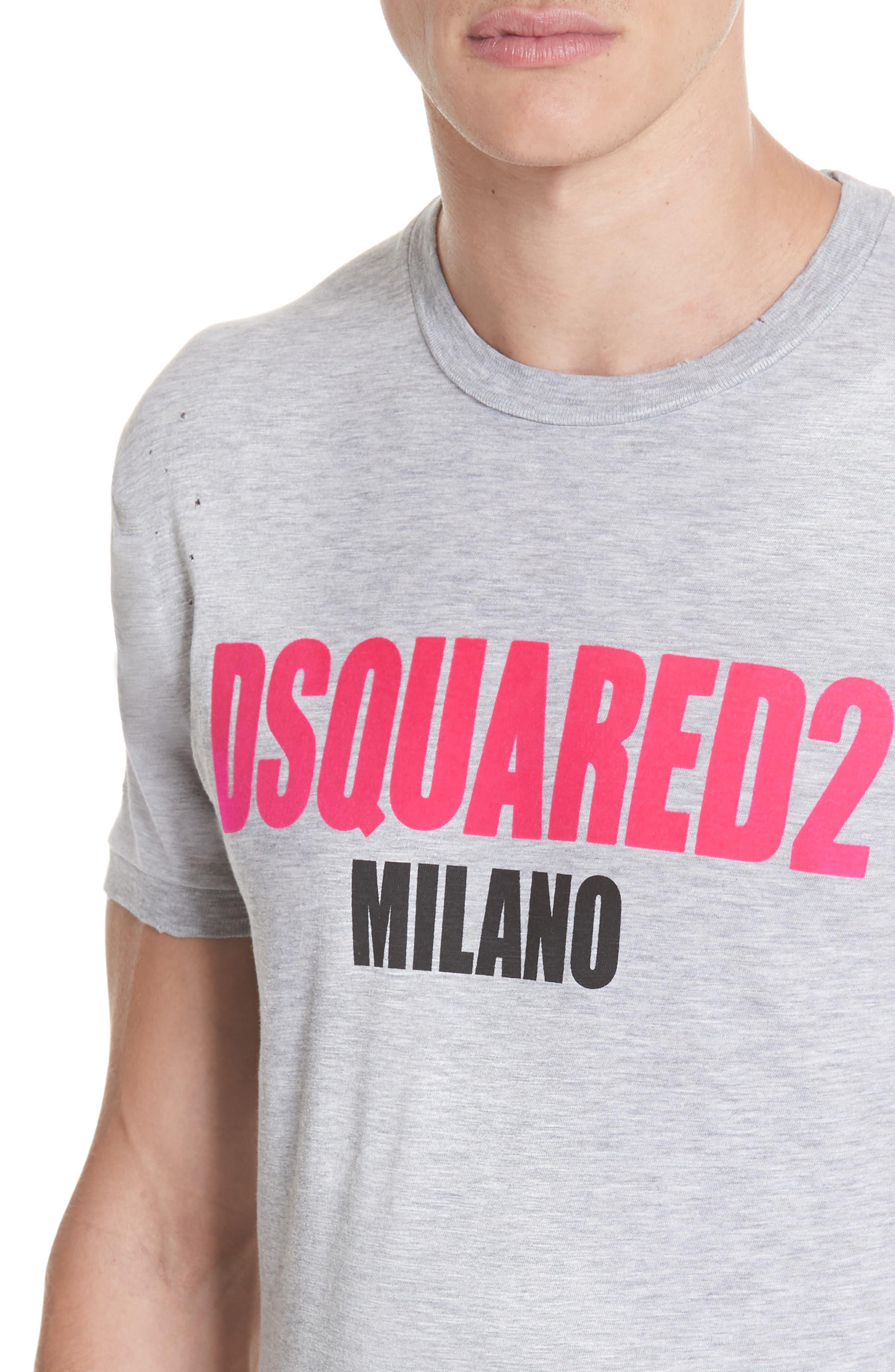 Milano Logo T-Shirt,                             Alternate thumbnail 4, color,                             020