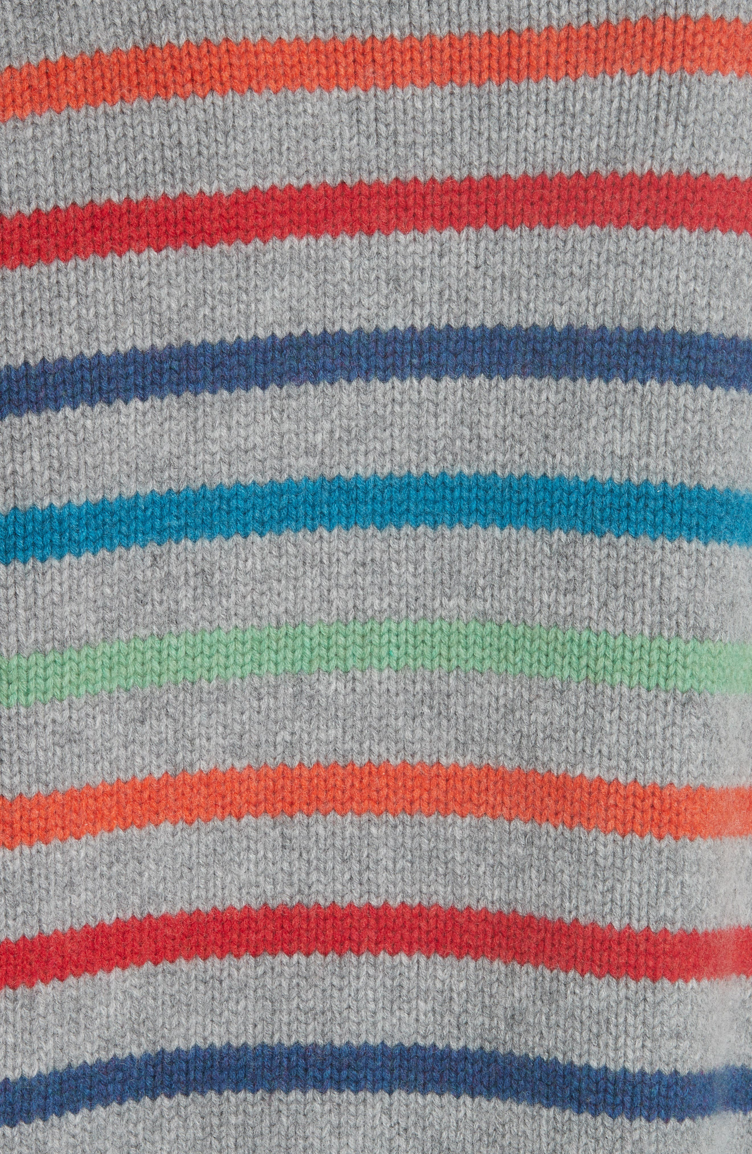 Marin Wool & Cashmere Sweater,                             Alternate thumbnail 5, color,                             RAINBOW STRIPE