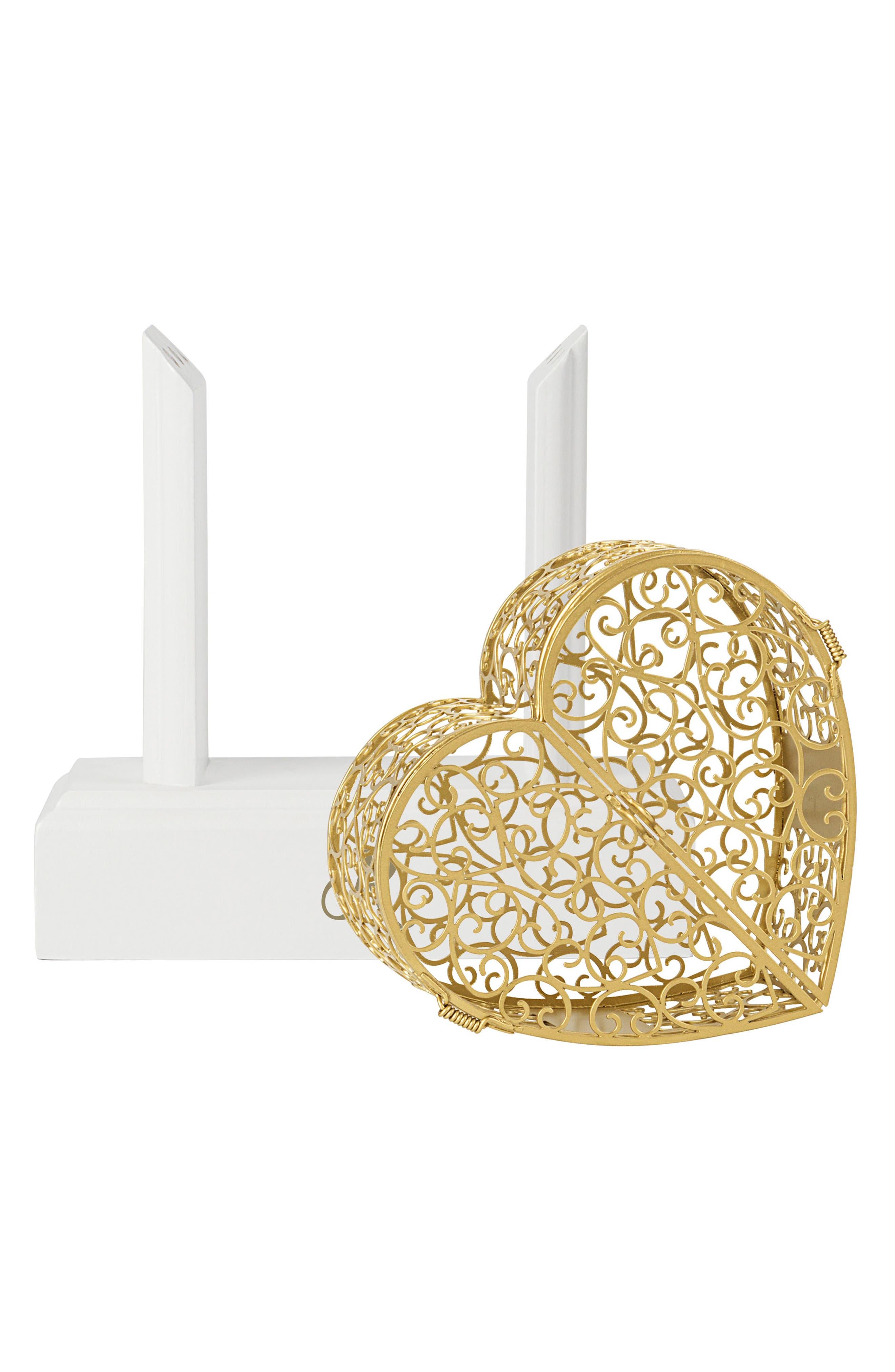 Key To My Heart Monogram Vow Unity Keepsake Box,                             Alternate thumbnail 2, color,                             710