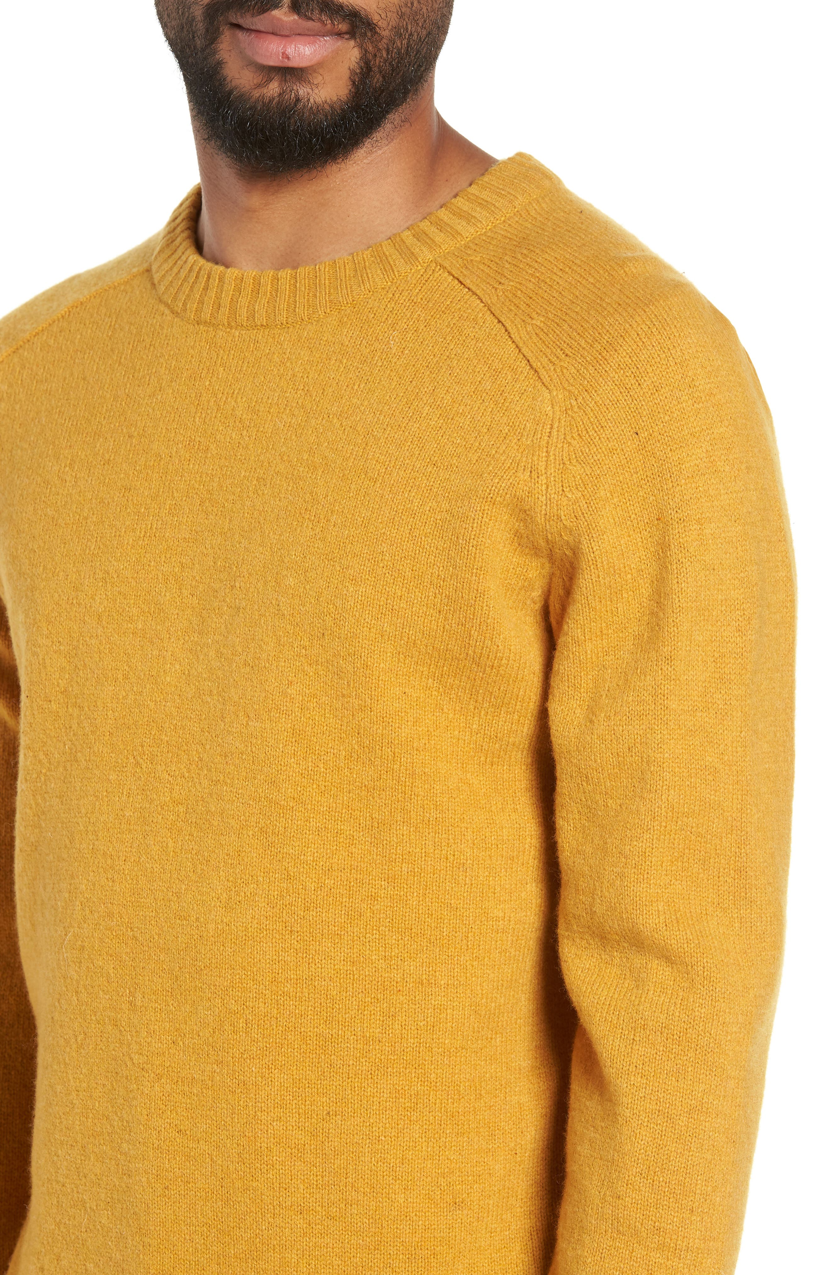 New Coban Regular Fit Wool Sweater,                             Alternate thumbnail 4, color,                             CURRY