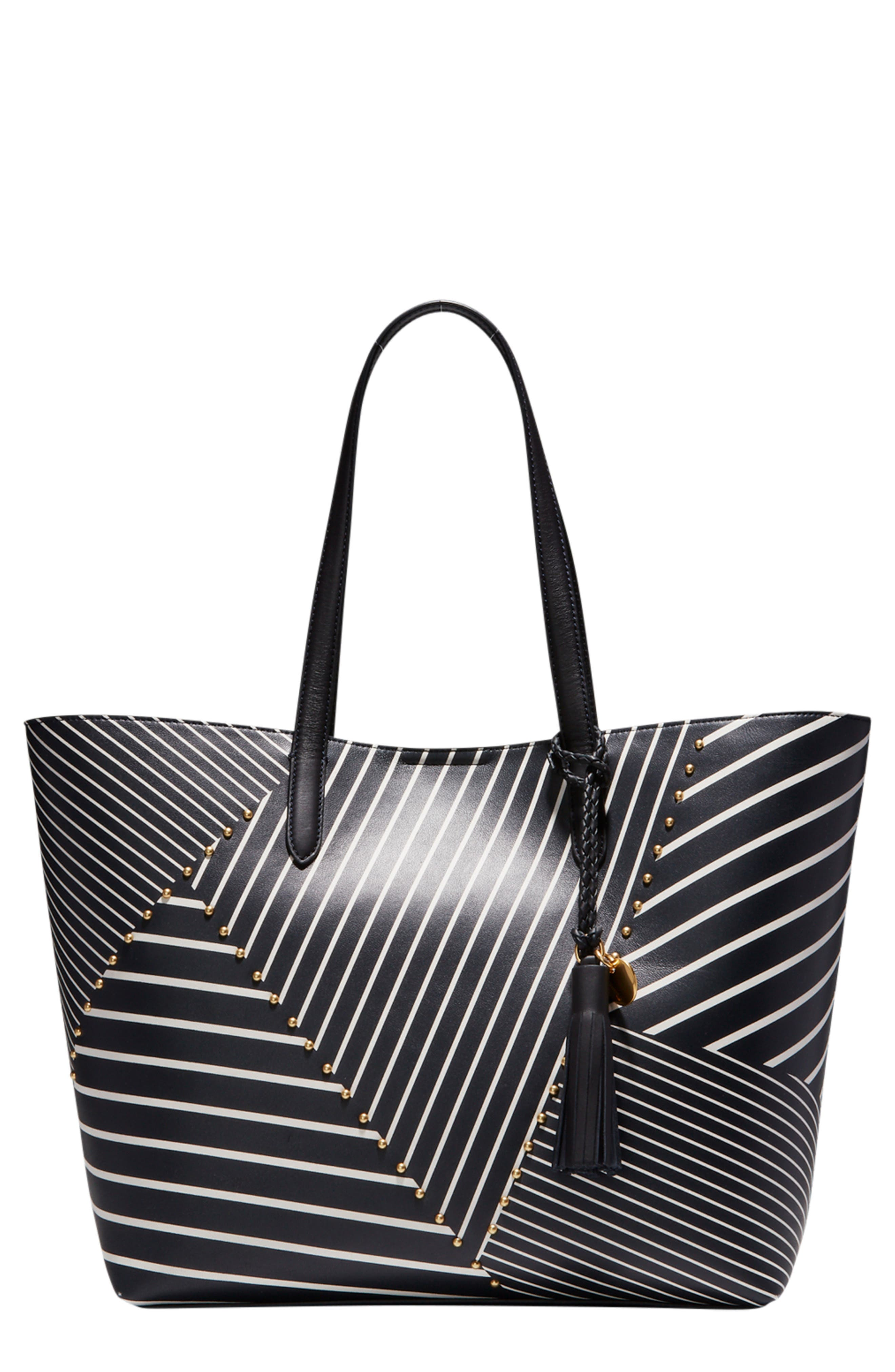 COLE HAAN Payson Print Tote, Main, color, 001