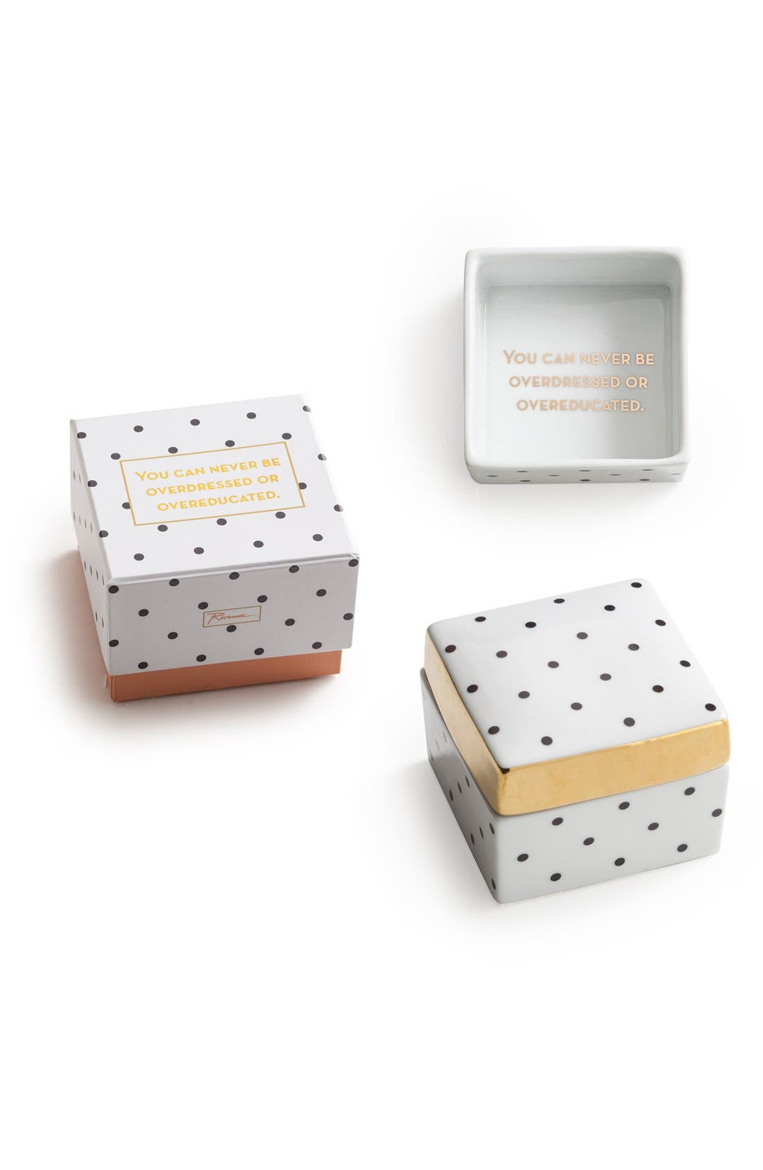 'Overdressed or Overeducated' Porcelain Trinket Box,                         Main,                         color, 100
