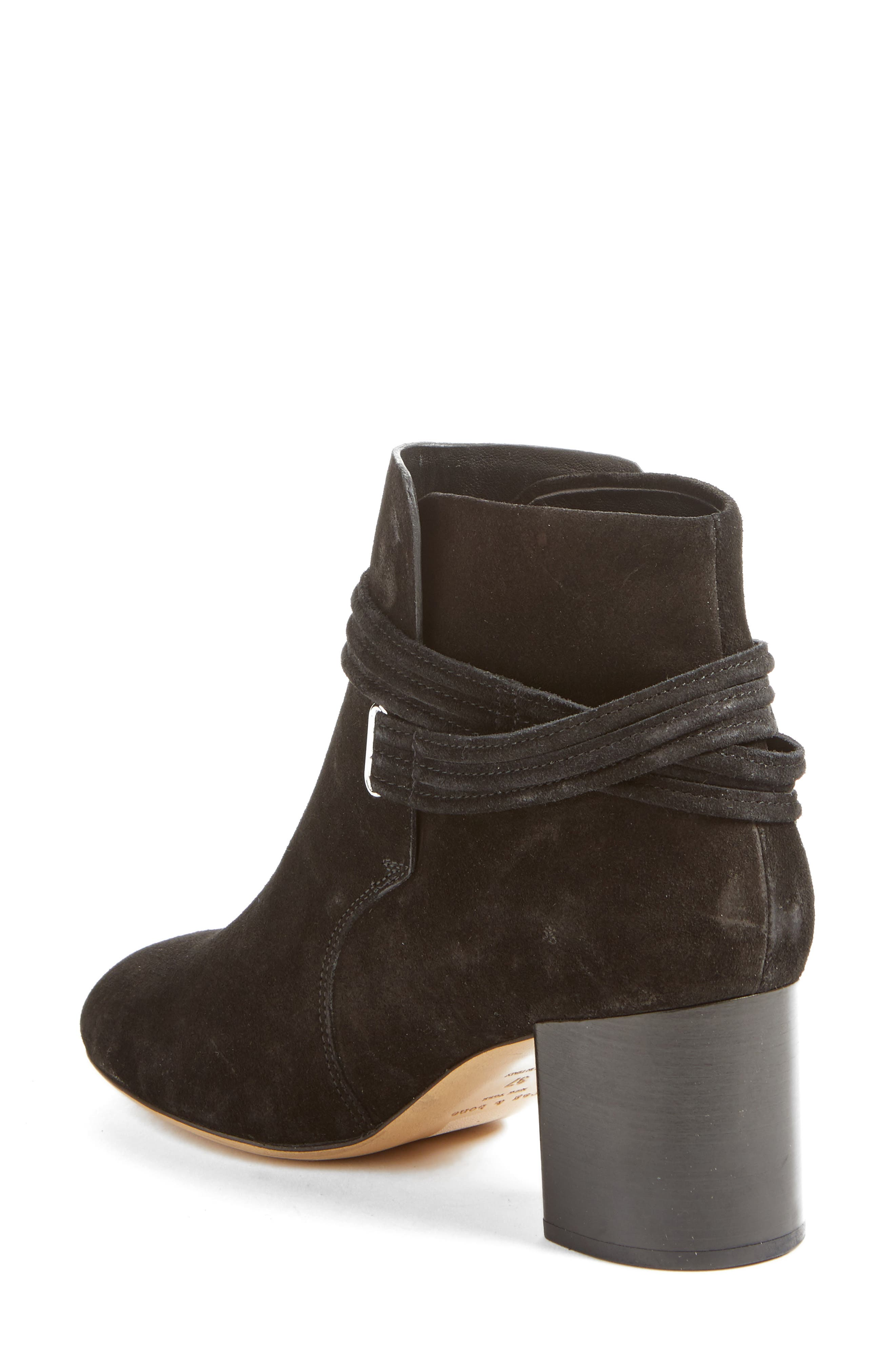 Dalia II Tie-Strap Bootie,                             Alternate thumbnail 2, color,                             008