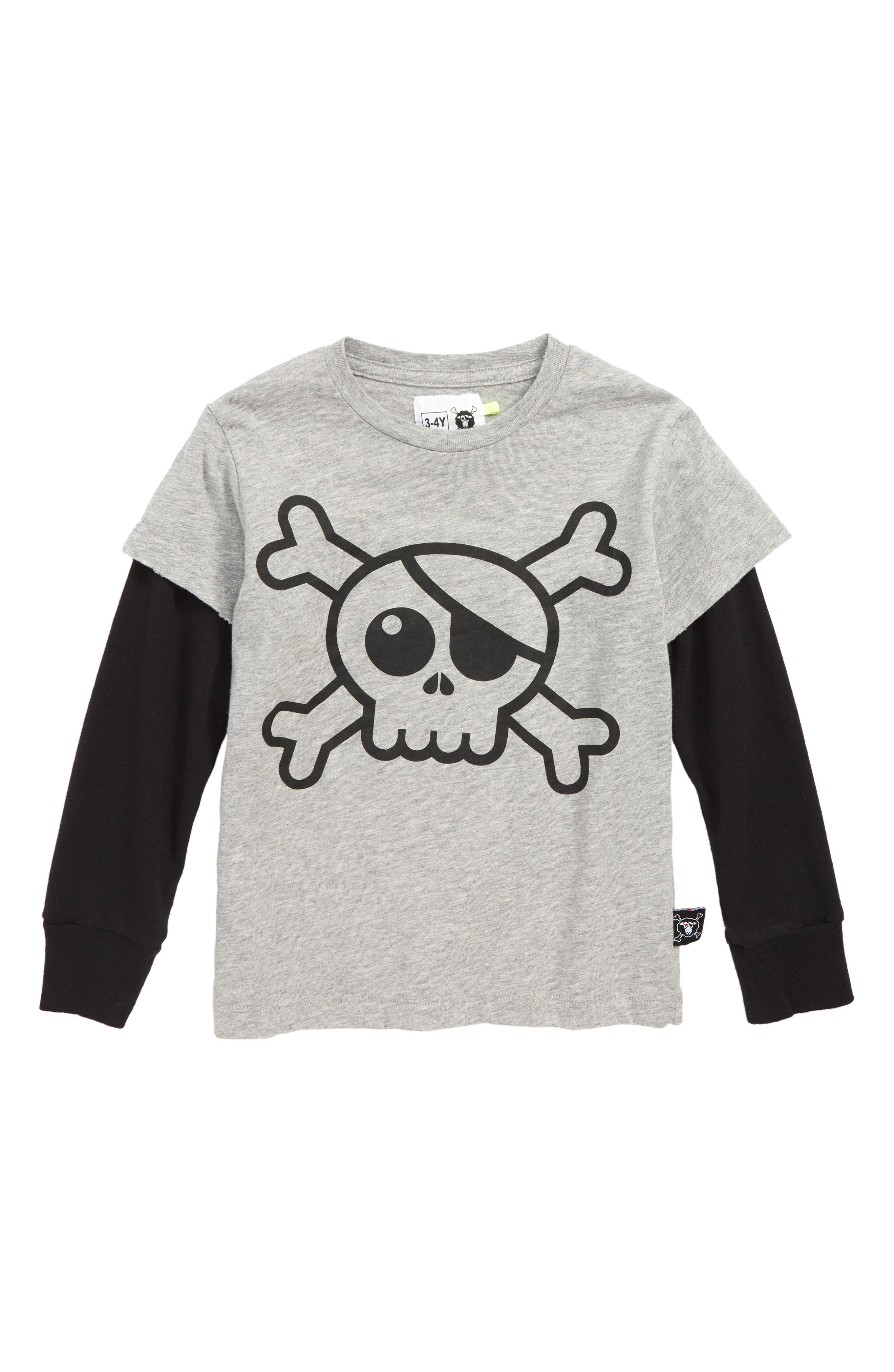 Skull Patch T-Shirt,                             Main thumbnail 1, color,                             027