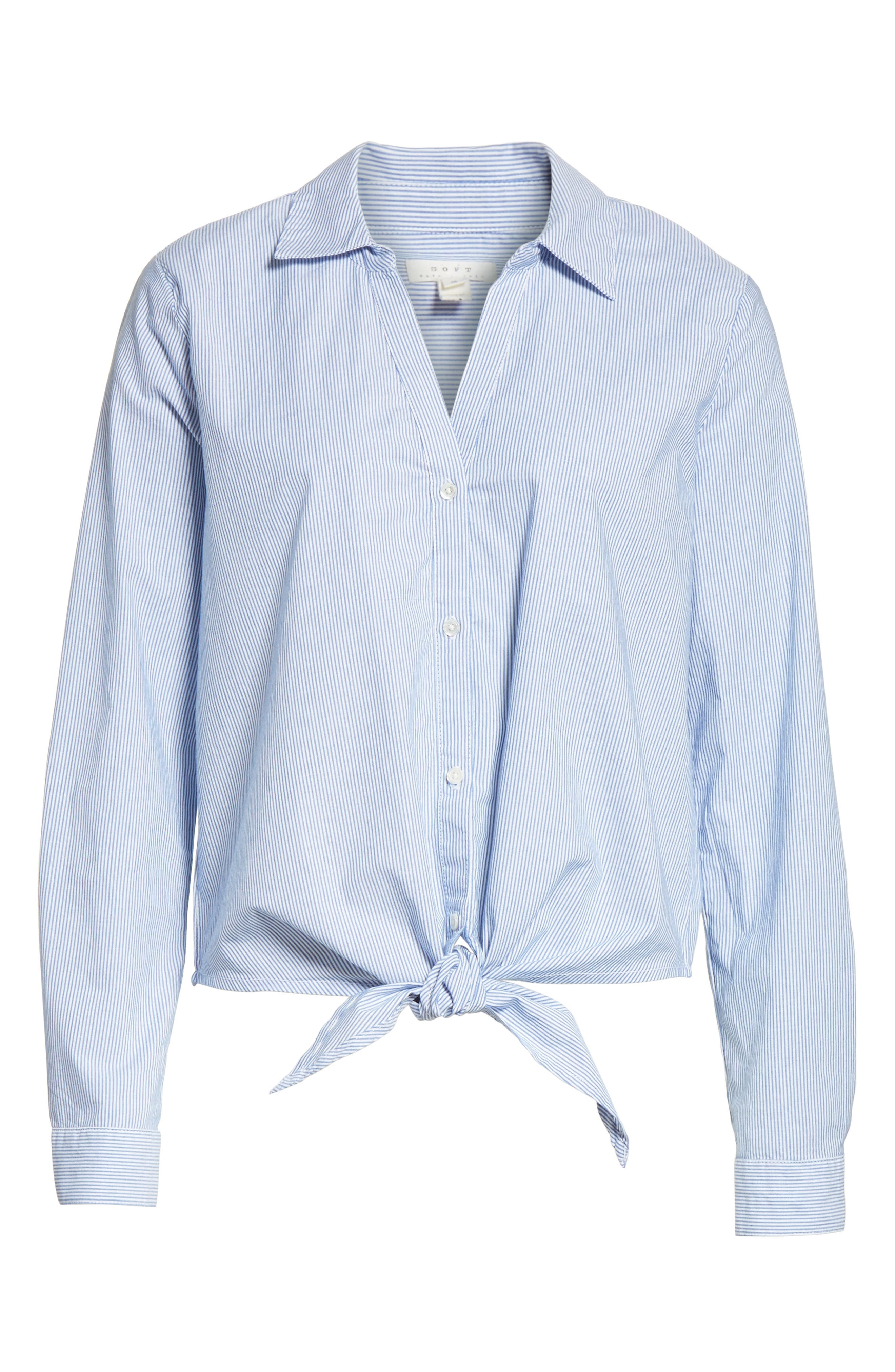 Crysta Tie Front Shirt,                             Alternate thumbnail 6, color,                             473