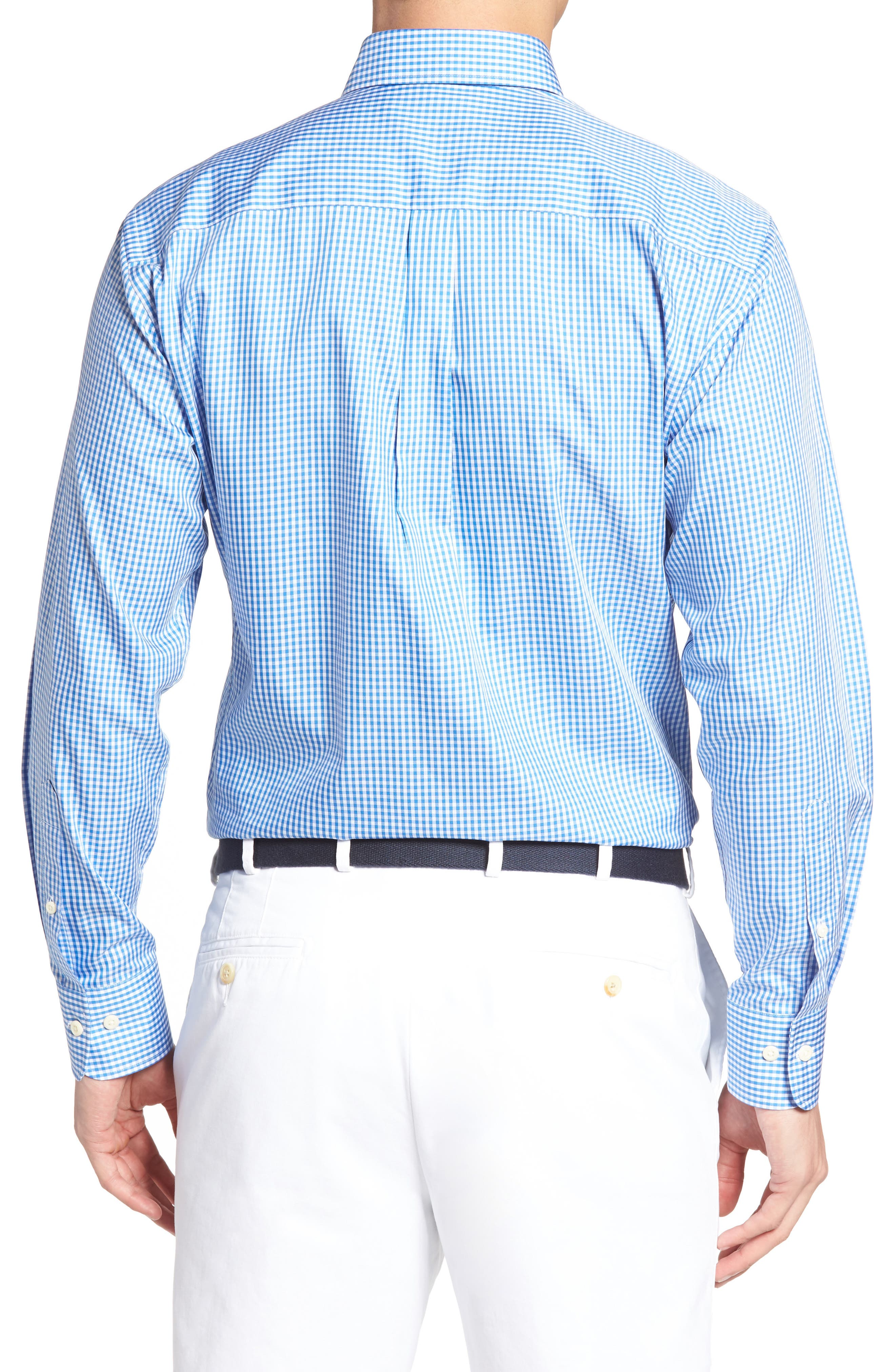 Crown Soft Gingham Regular Fit Sport Shirt,                             Alternate thumbnail 9, color,