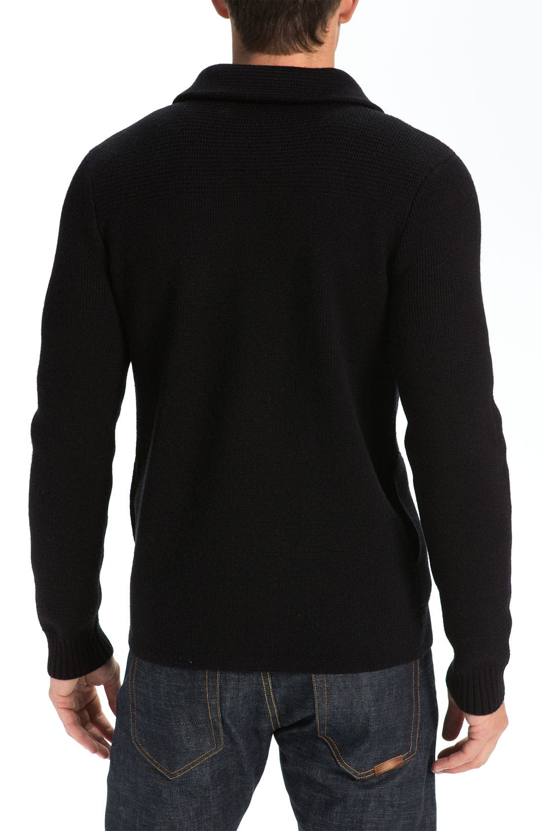 VINCE,                             Wool Peacoat Sweater,                             Alternate thumbnail 2, color,                             001