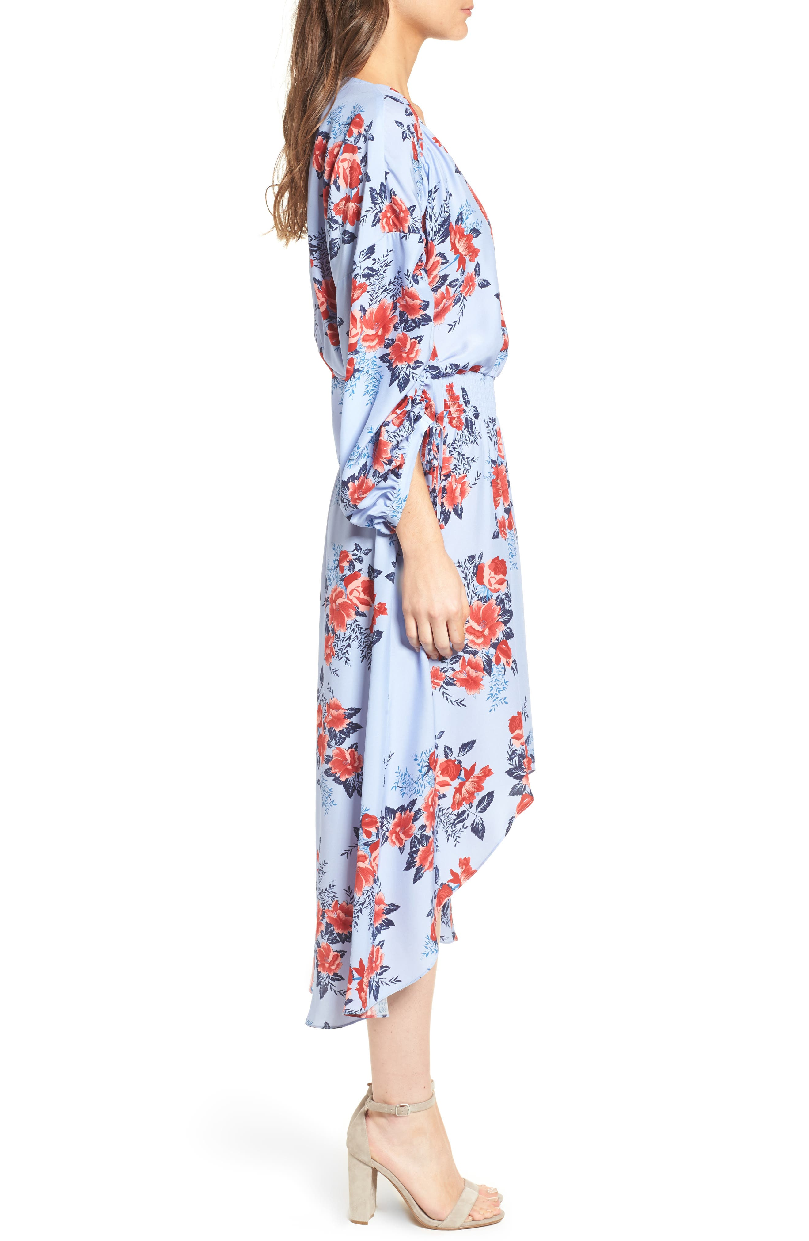Xiomara Silk Dress,                             Alternate thumbnail 3, color,                             400