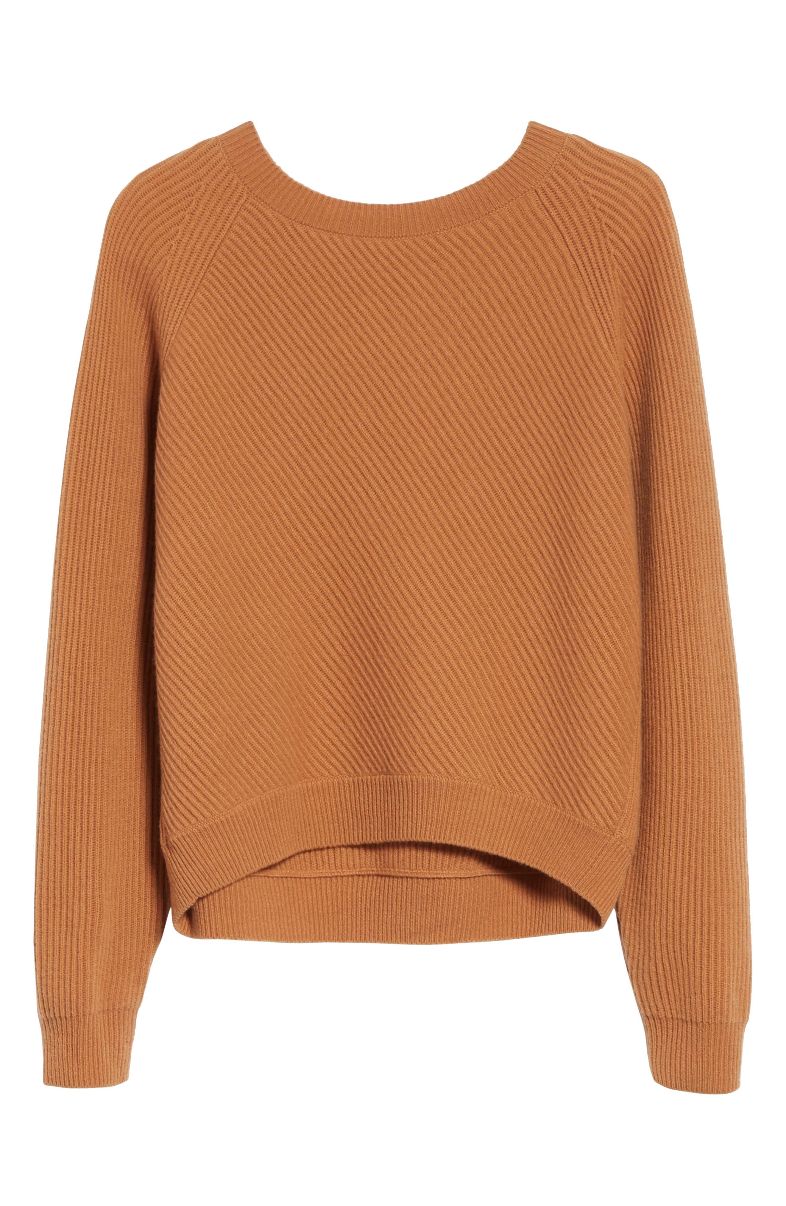 Diagonal Rib Wool & Cashmere Sweater,                             Alternate thumbnail 18, color,