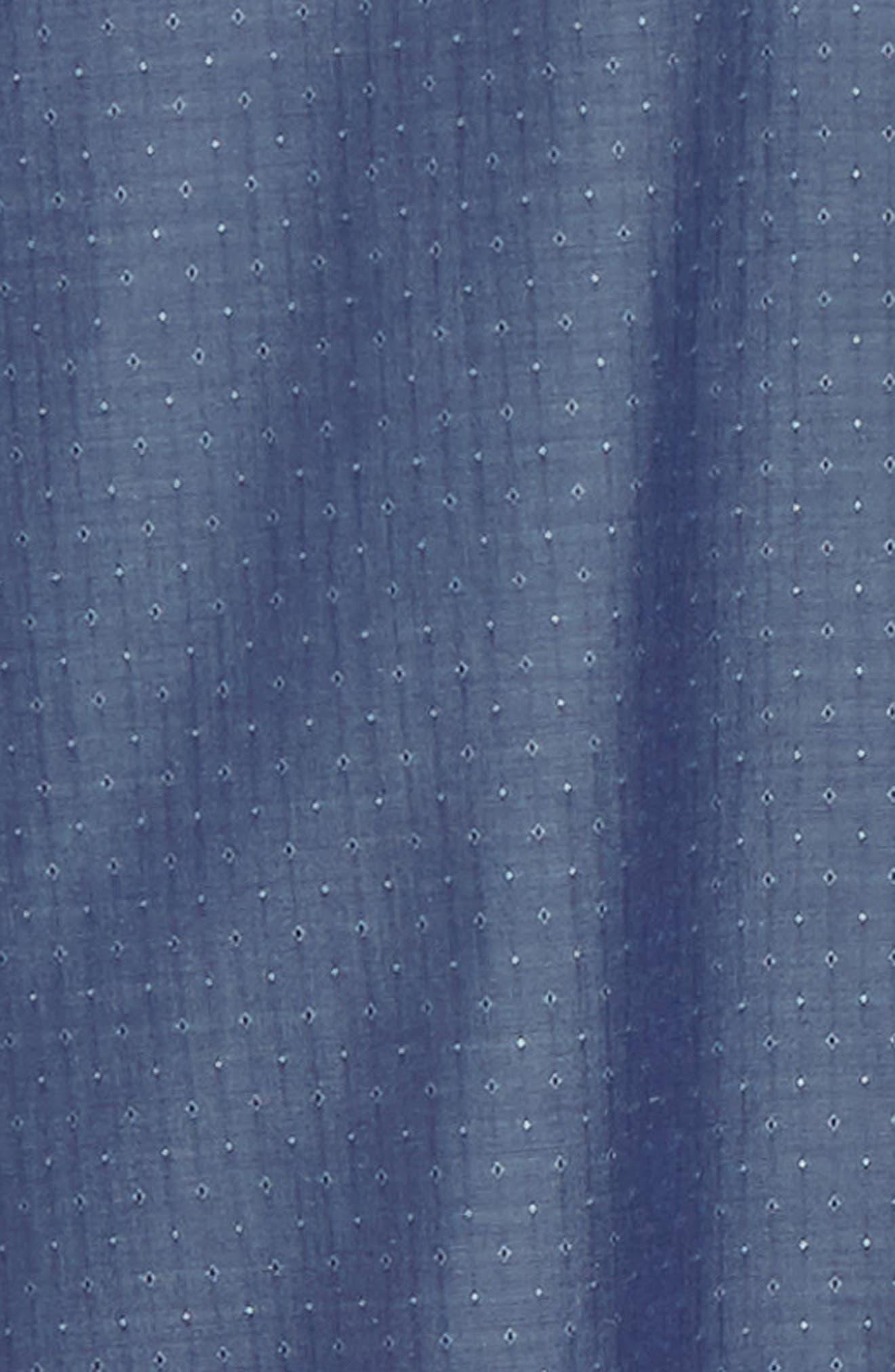 NORDSTROM MEN'S SHOP,                             Regular Fit Non-Iron Dobby Sport Shirt,                             Alternate thumbnail 6, color,                             NAVY PEACOAT DIAMOND DOBBY