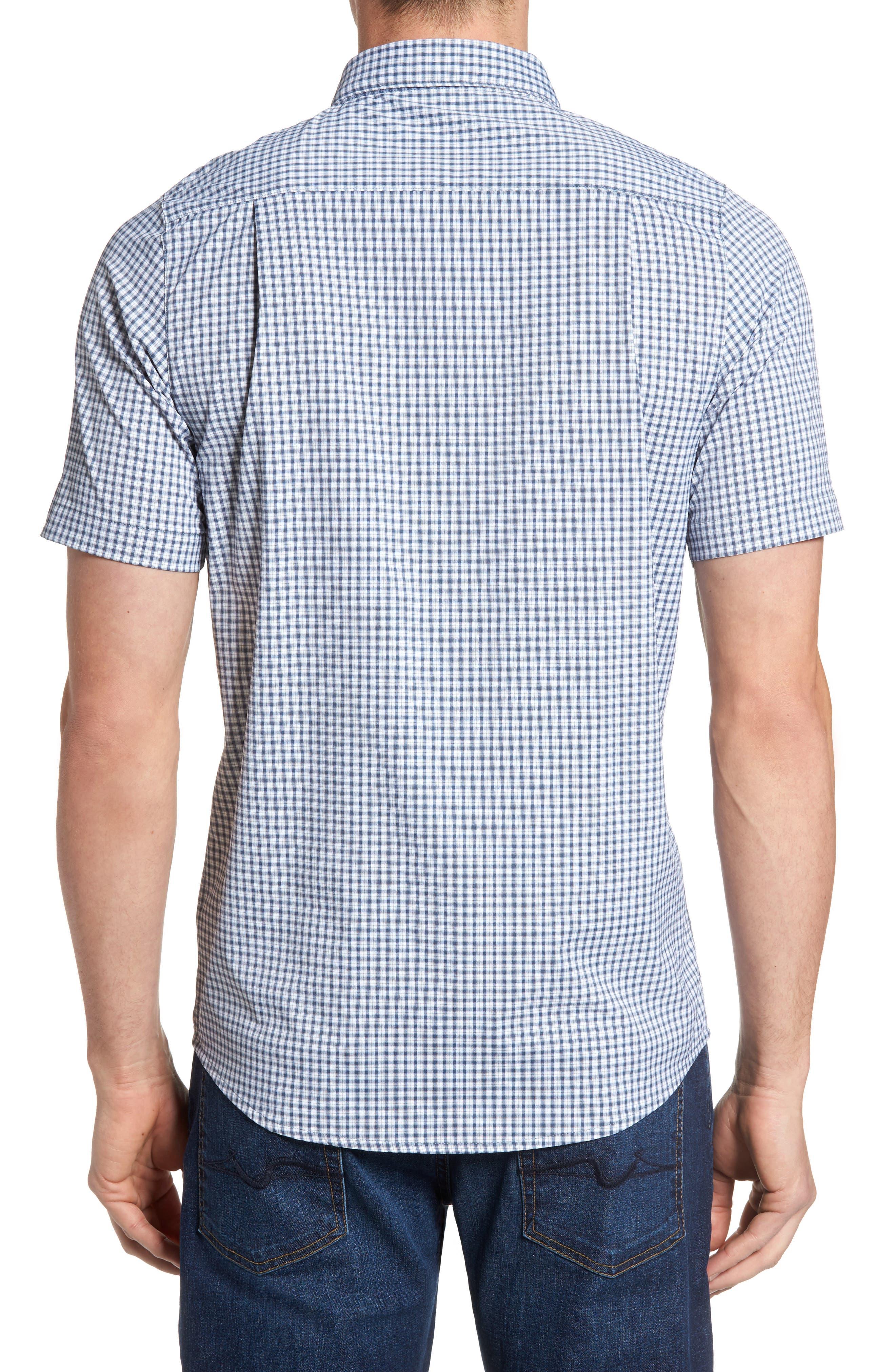 Barker Trim Fit Plaid Sport Shirt,                             Alternate thumbnail 2, color,                             400