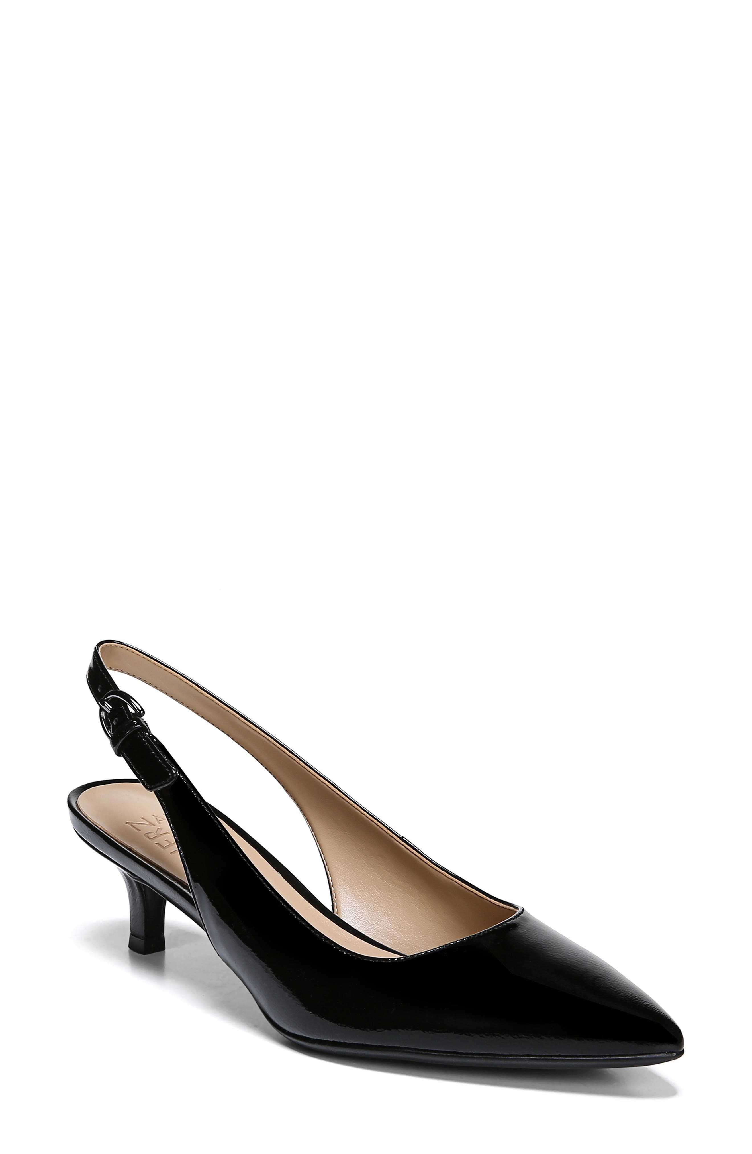 Peyton Slingback Pump, Main, color, BLACK PATENT LEATHER