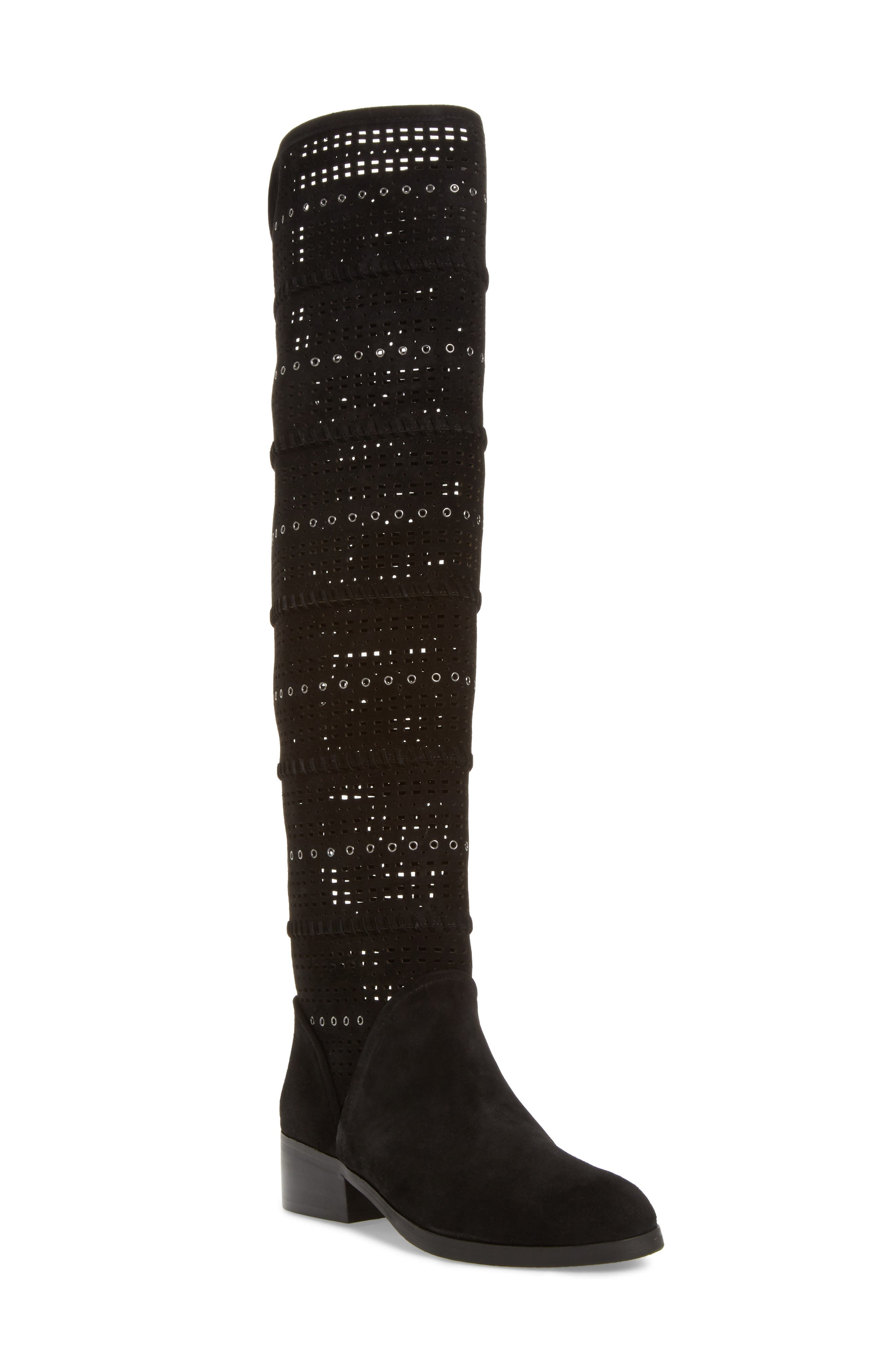 Devya Over the Knee Boot,                             Main thumbnail 1, color,                             001