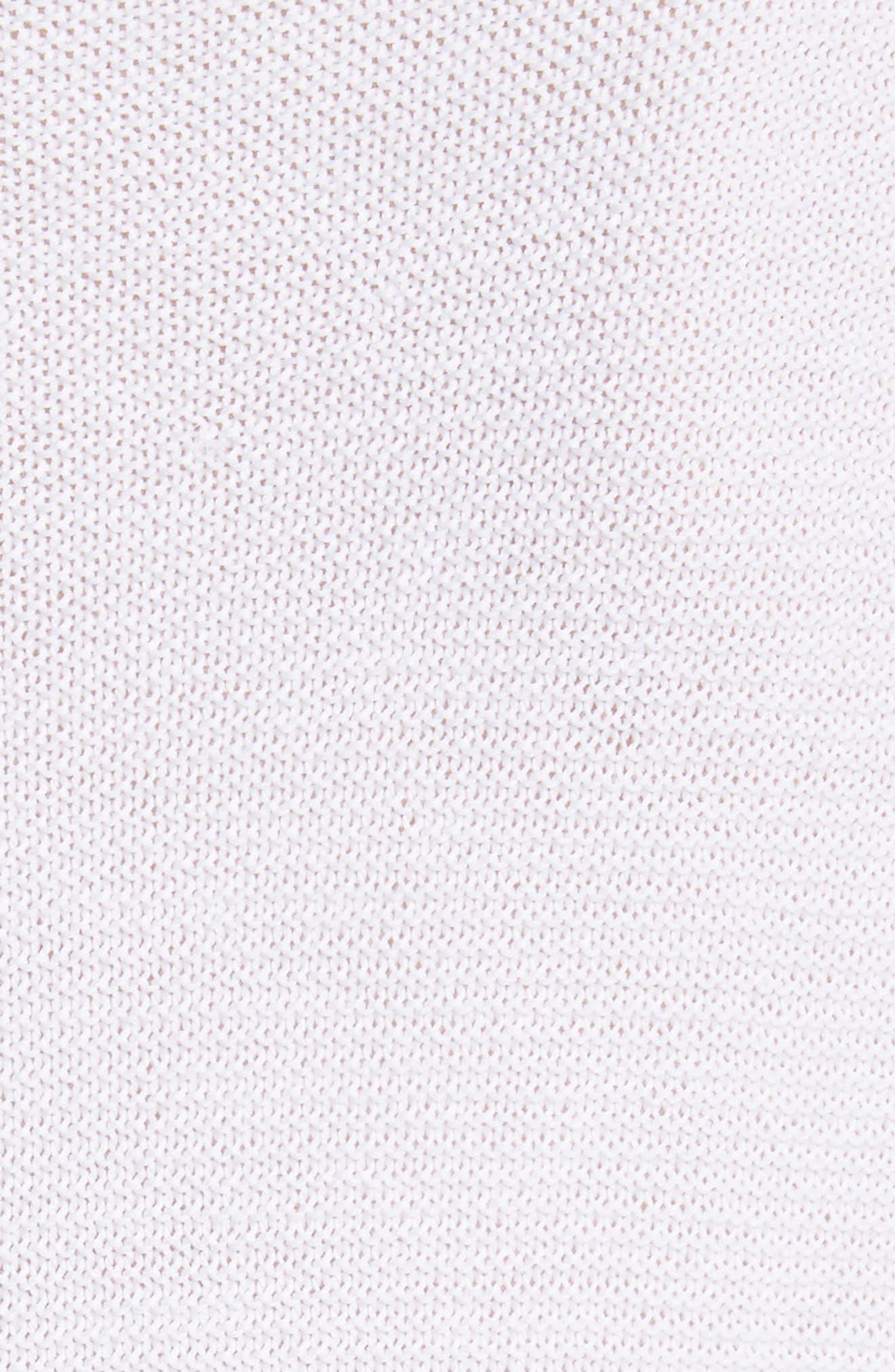 Popcorn Stitch Cotton Pullover,                             Alternate thumbnail 5, color,                             100