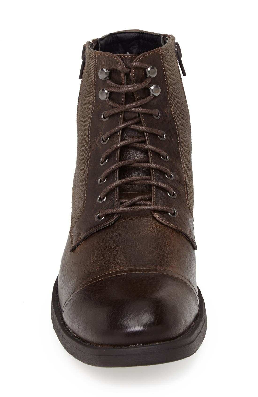 'Edgar' Cap Toe Boot,                             Alternate thumbnail 3, color,                             201