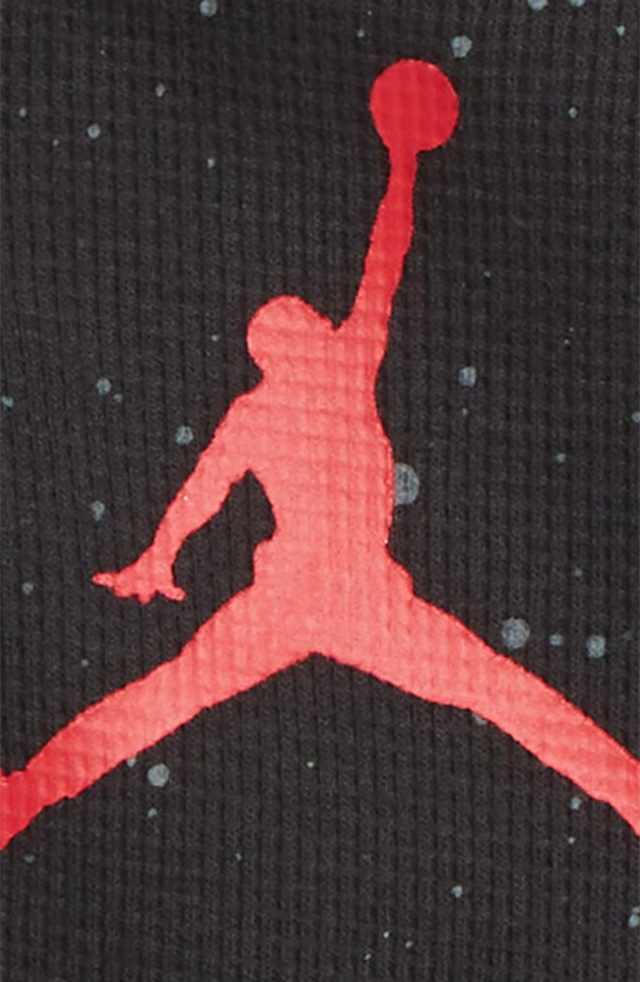 Speckled Jumpman Coverall,                             Alternate thumbnail 2, color,                             BLACK