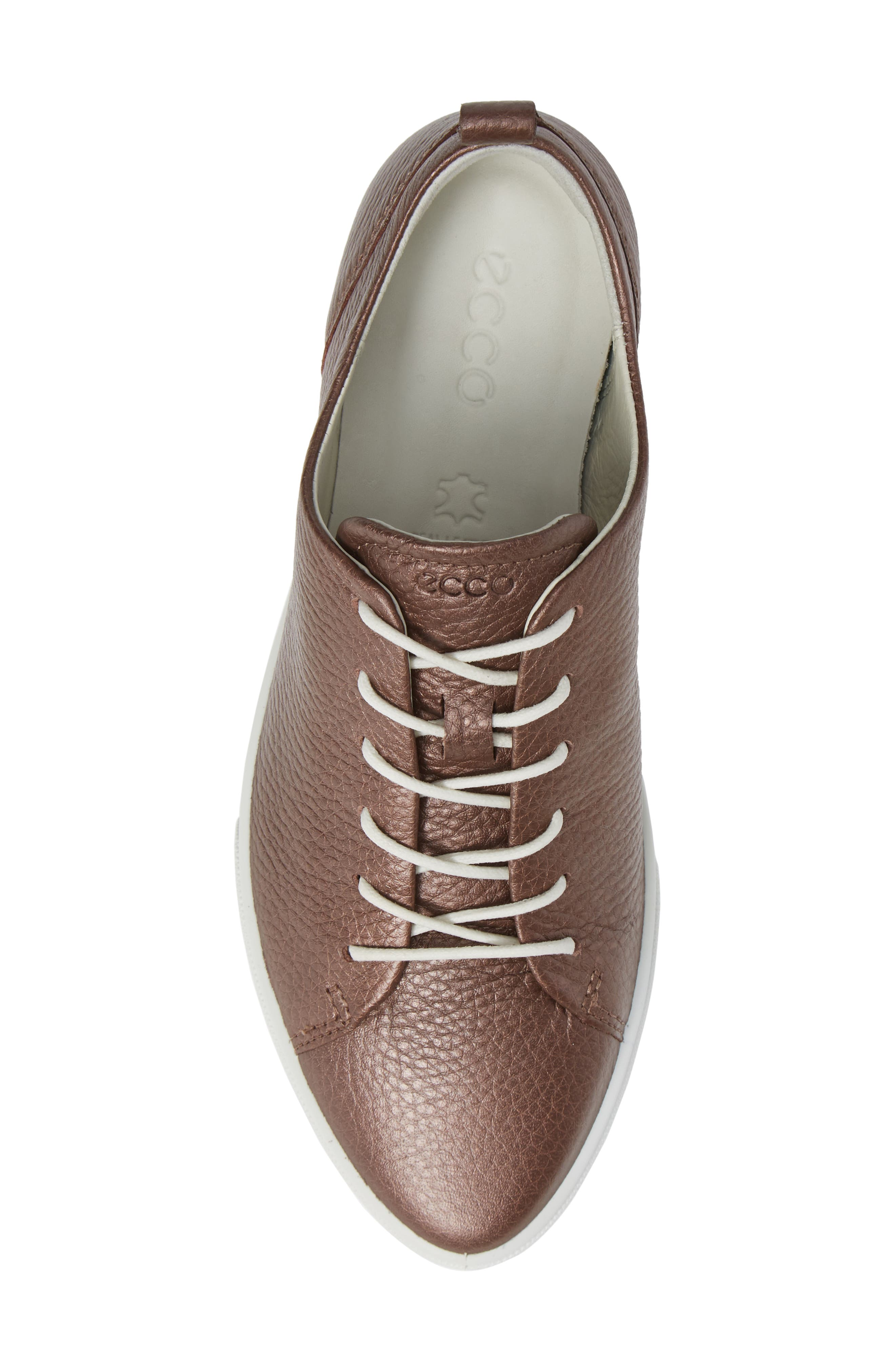 Gillian Sneaker,                             Alternate thumbnail 5, color,                             DEEP TAUPE/ BRONZE LEATHER