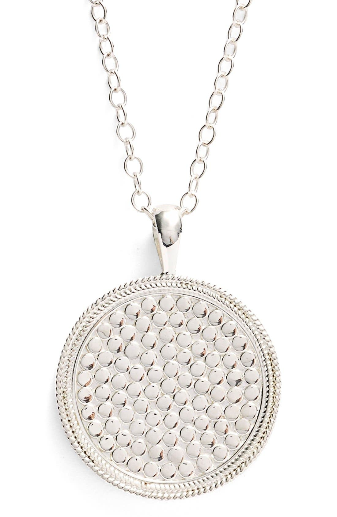 ANNA BECK,                             Medallion Pendant Necklace,                             Alternate thumbnail 6, color,                             SILVER
