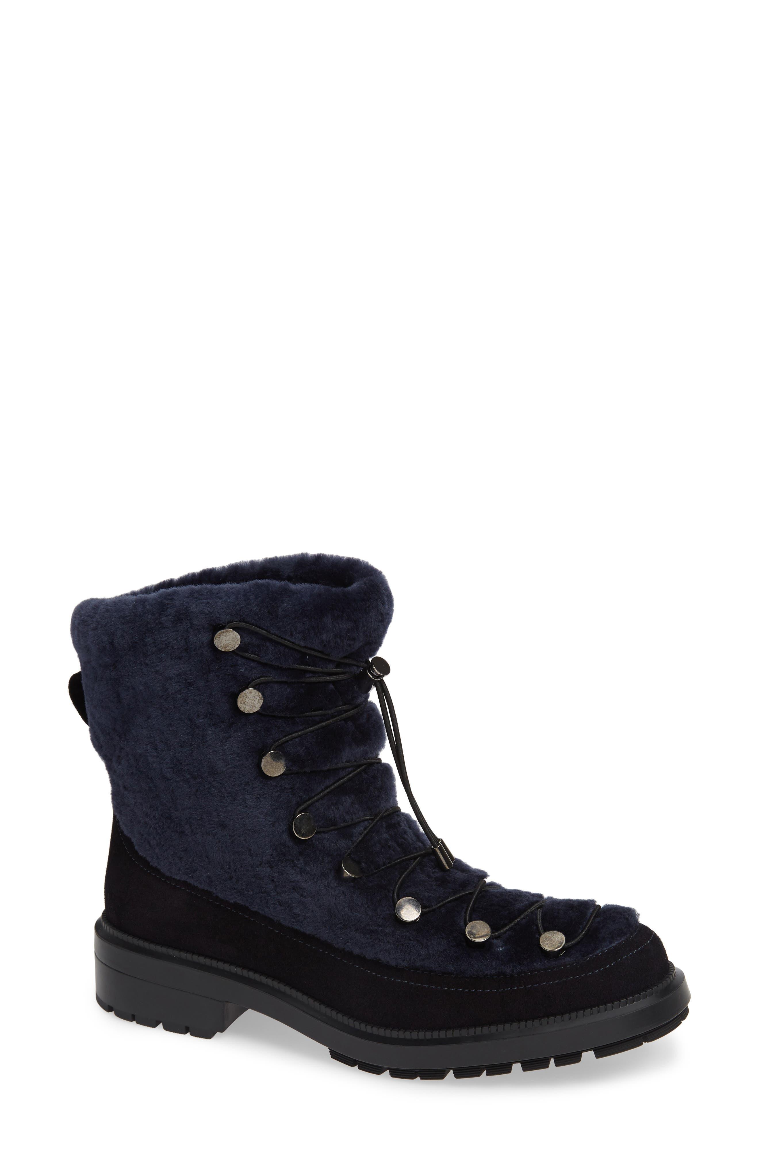 Aquatalia Lorena Genuine Shearling Boot, Blue