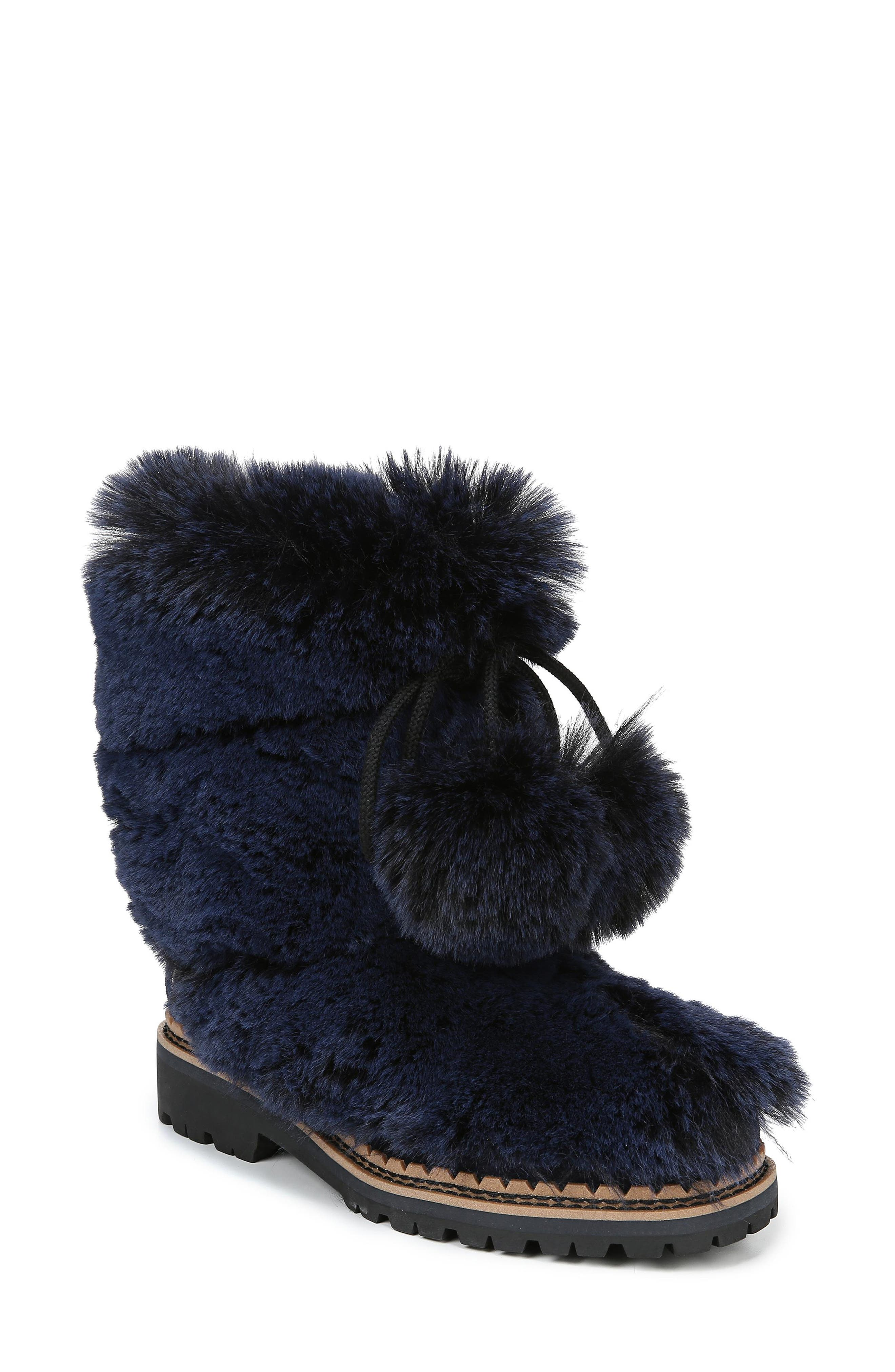 Sam Edelman Blanche Faux Fur Boot, Blue