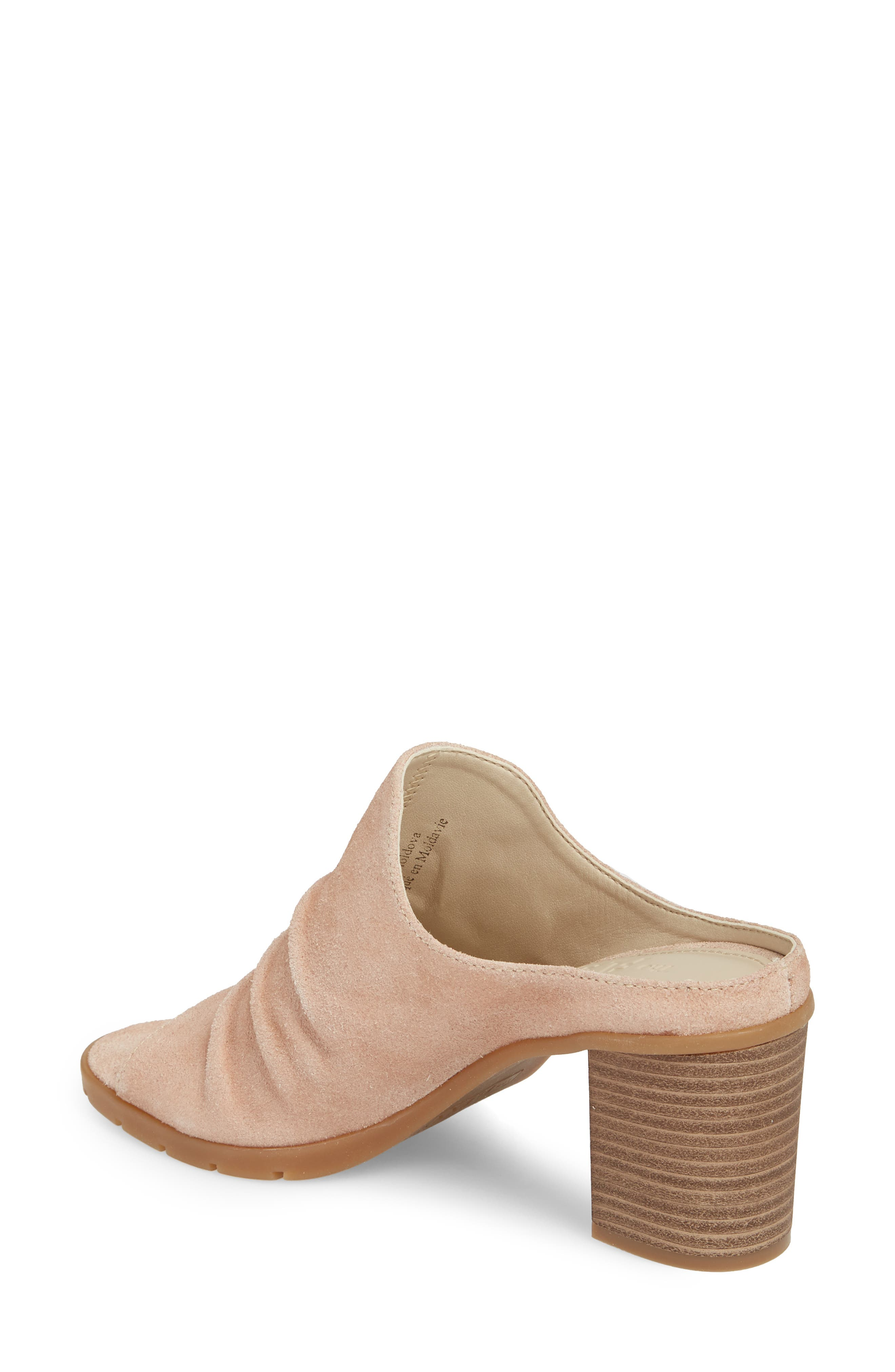 Aim to Pleat Mule,                             Alternate thumbnail 2, color,                             ROSE GOLD LEATHER