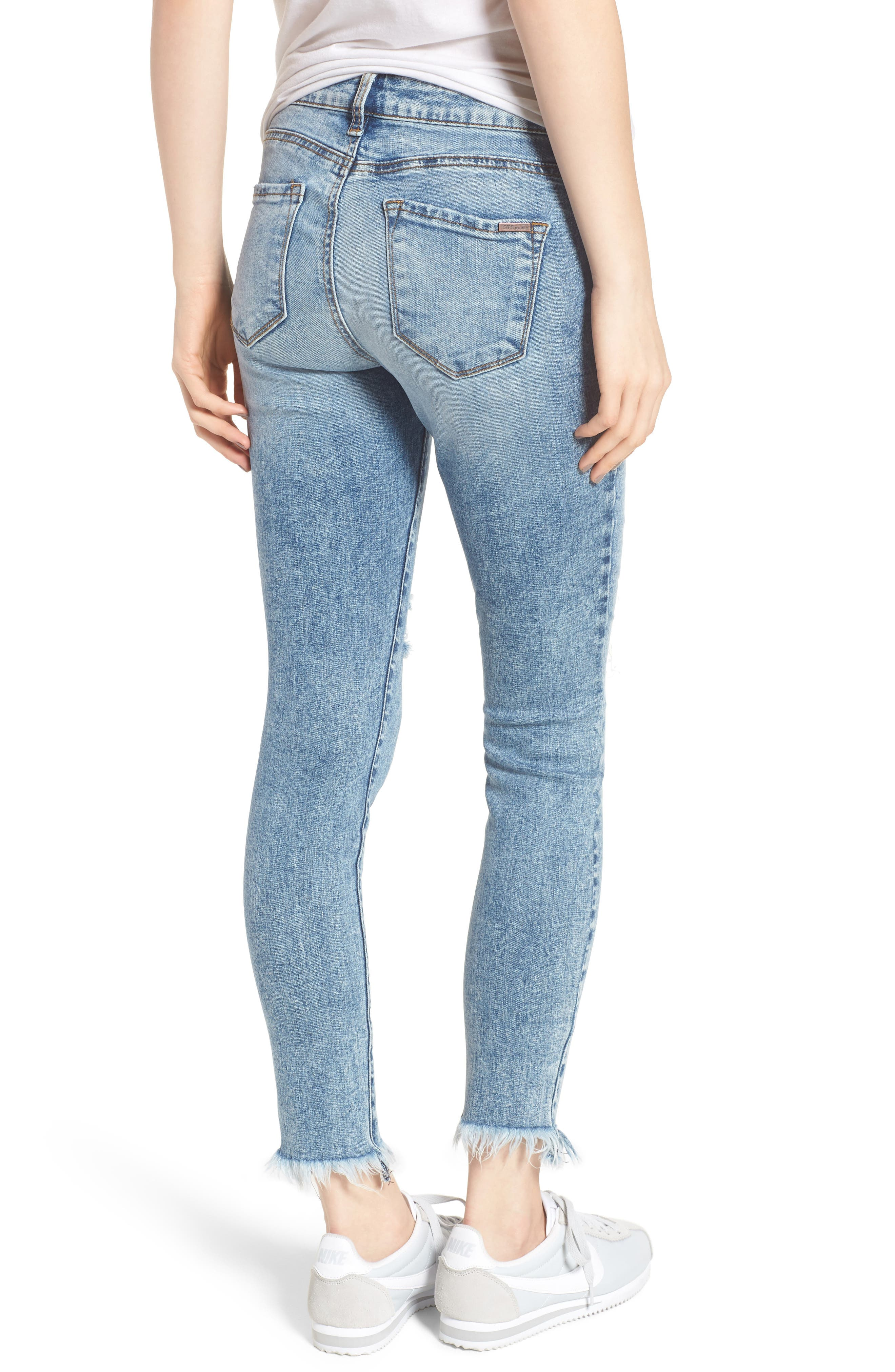 Emma Fray Hem Ankle Skinny Jeans,                             Alternate thumbnail 2, color,                             400