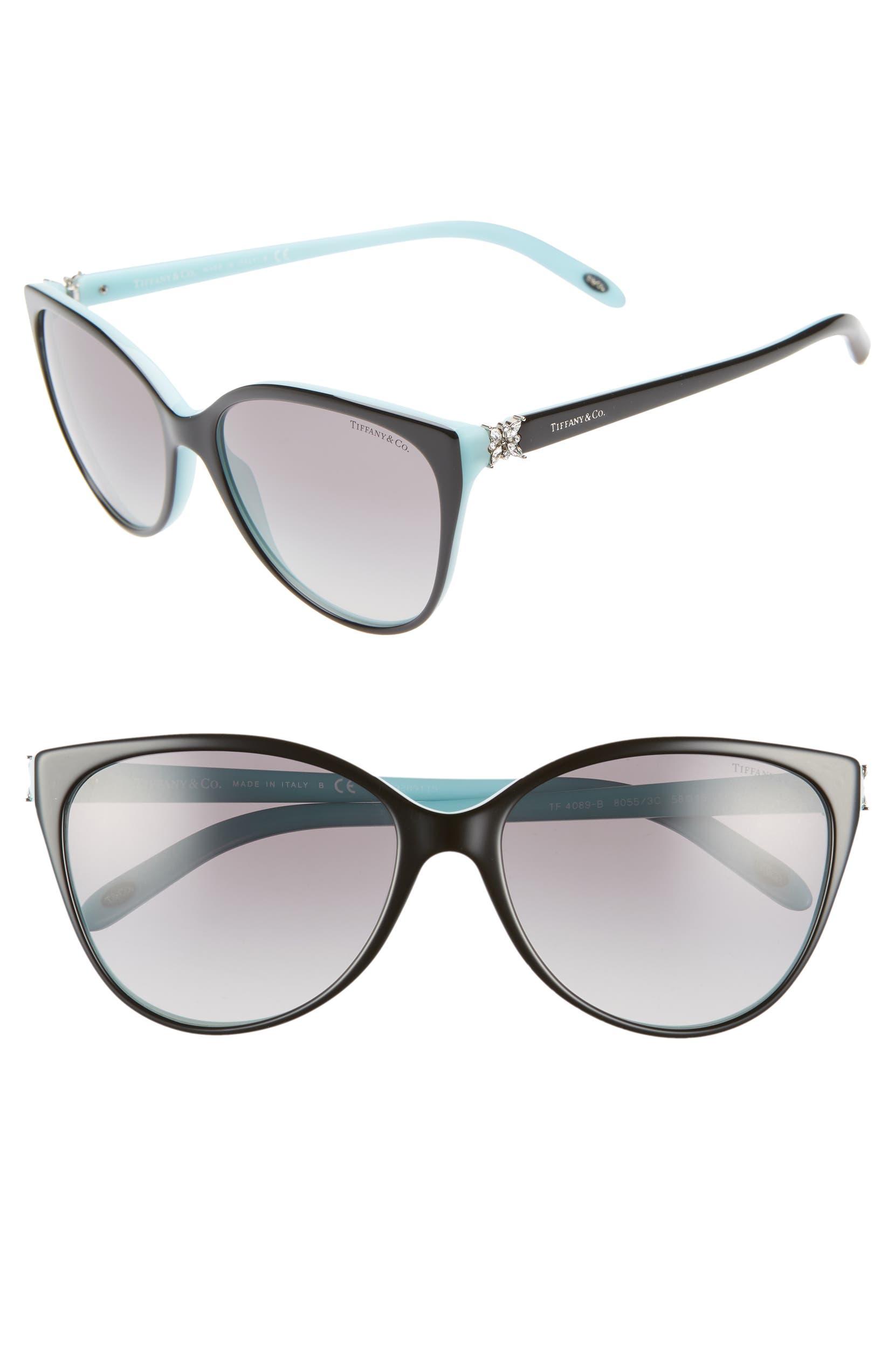 dfde69ad32b 58mm Gradient Cat Eye Sunglasses