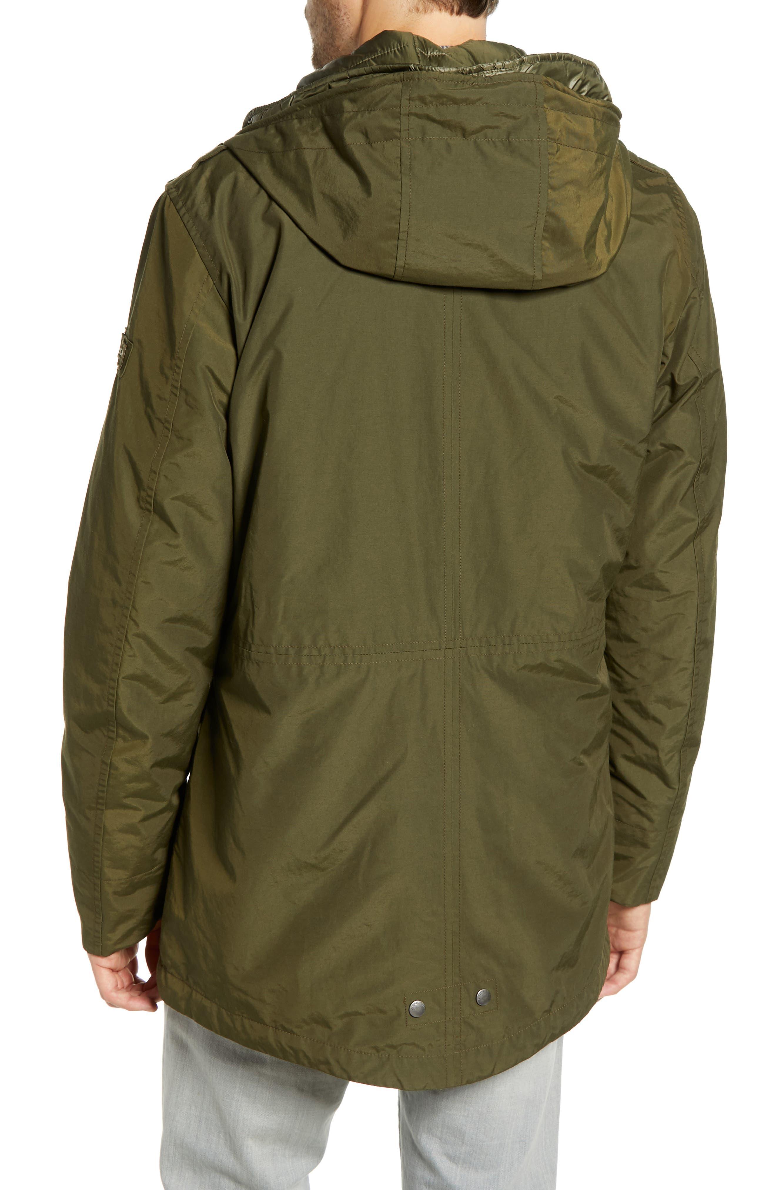 John Rich 'Long Military Eskimo' 3-in-1 Hooded Jacket,                             Alternate thumbnail 3, color,                             FLINT OLIVE
