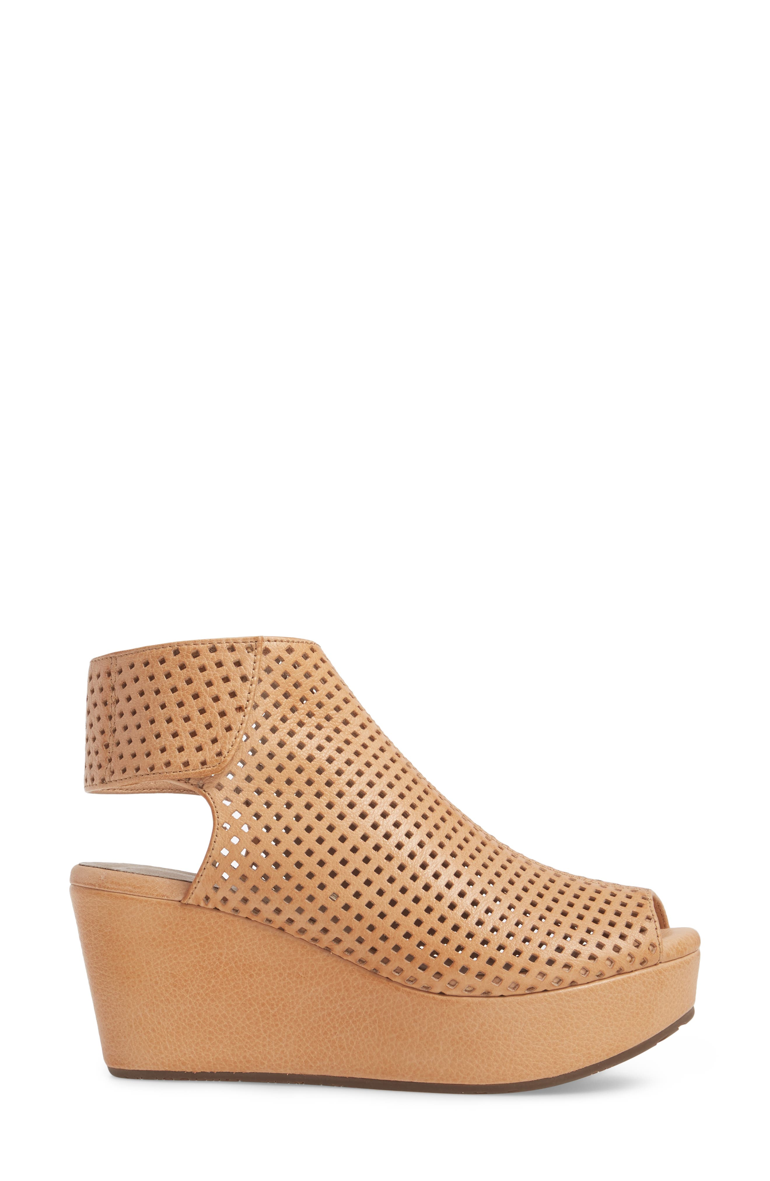 Wing Perforated Platform Wedge,                             Alternate thumbnail 3, color,                             200
