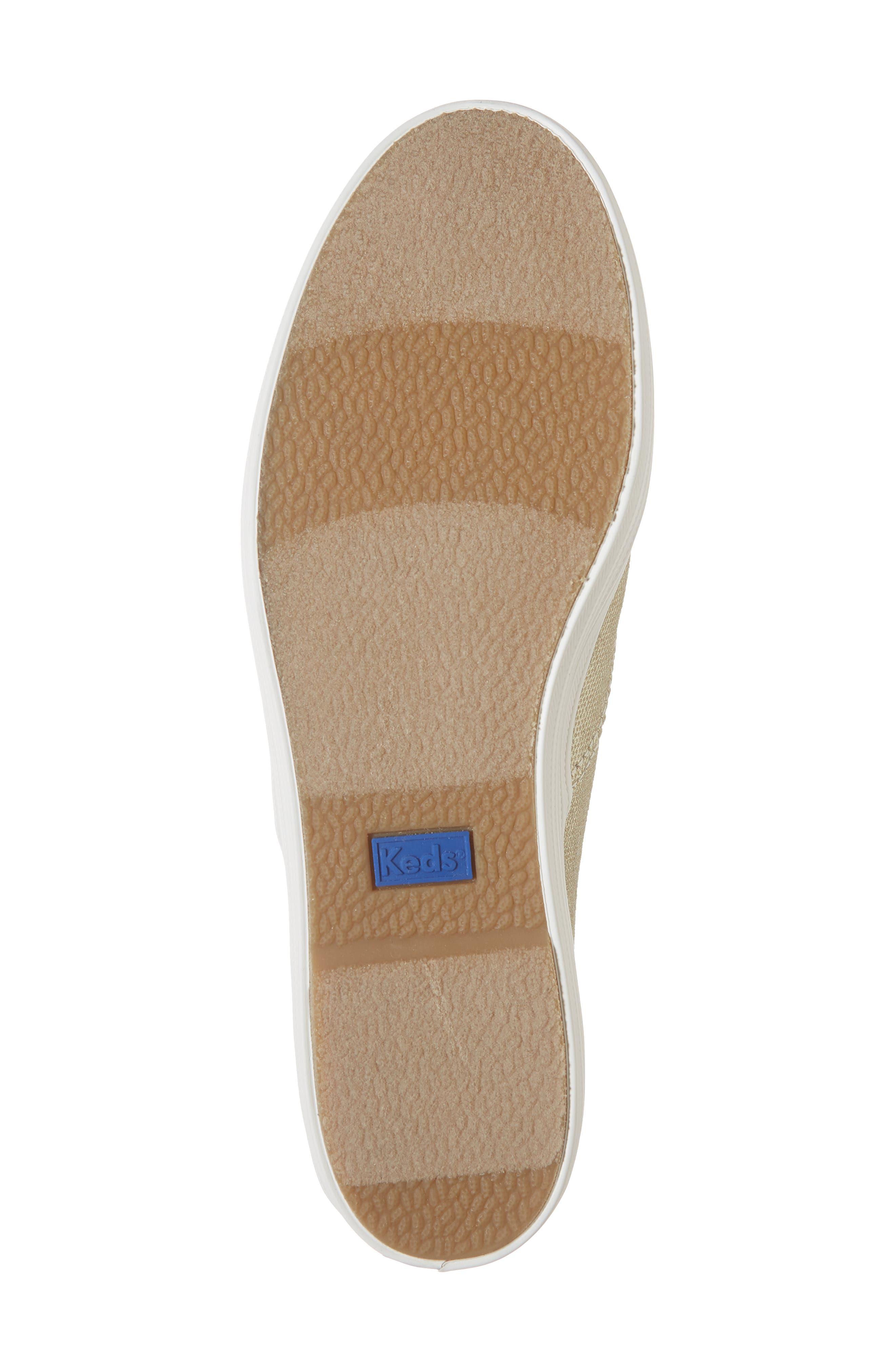 Triple Decker Brushed Metallic Platform Sneaker,                             Alternate thumbnail 6, color,                             PLATINUM