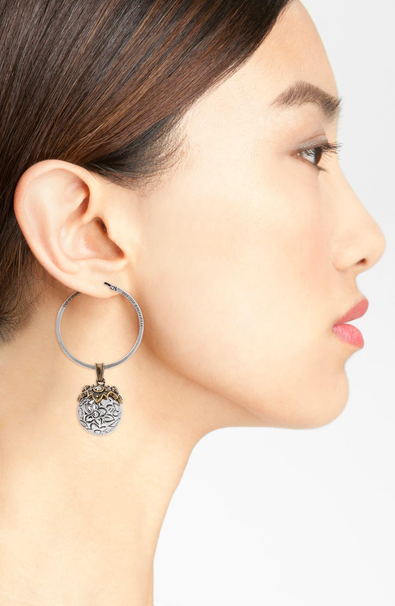 Metallic Sphere Earrings,                             Alternate thumbnail 2, color,                             040