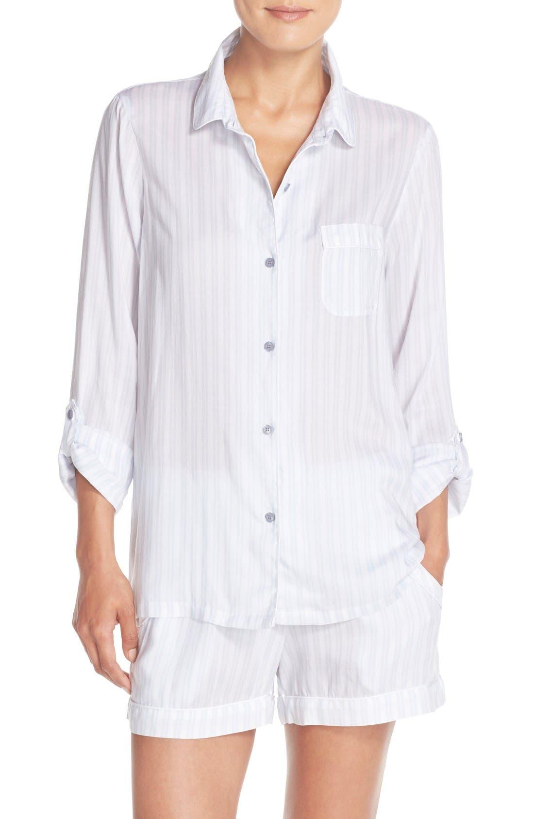 Stripe Short Pajamas,                         Main,                         color, 450