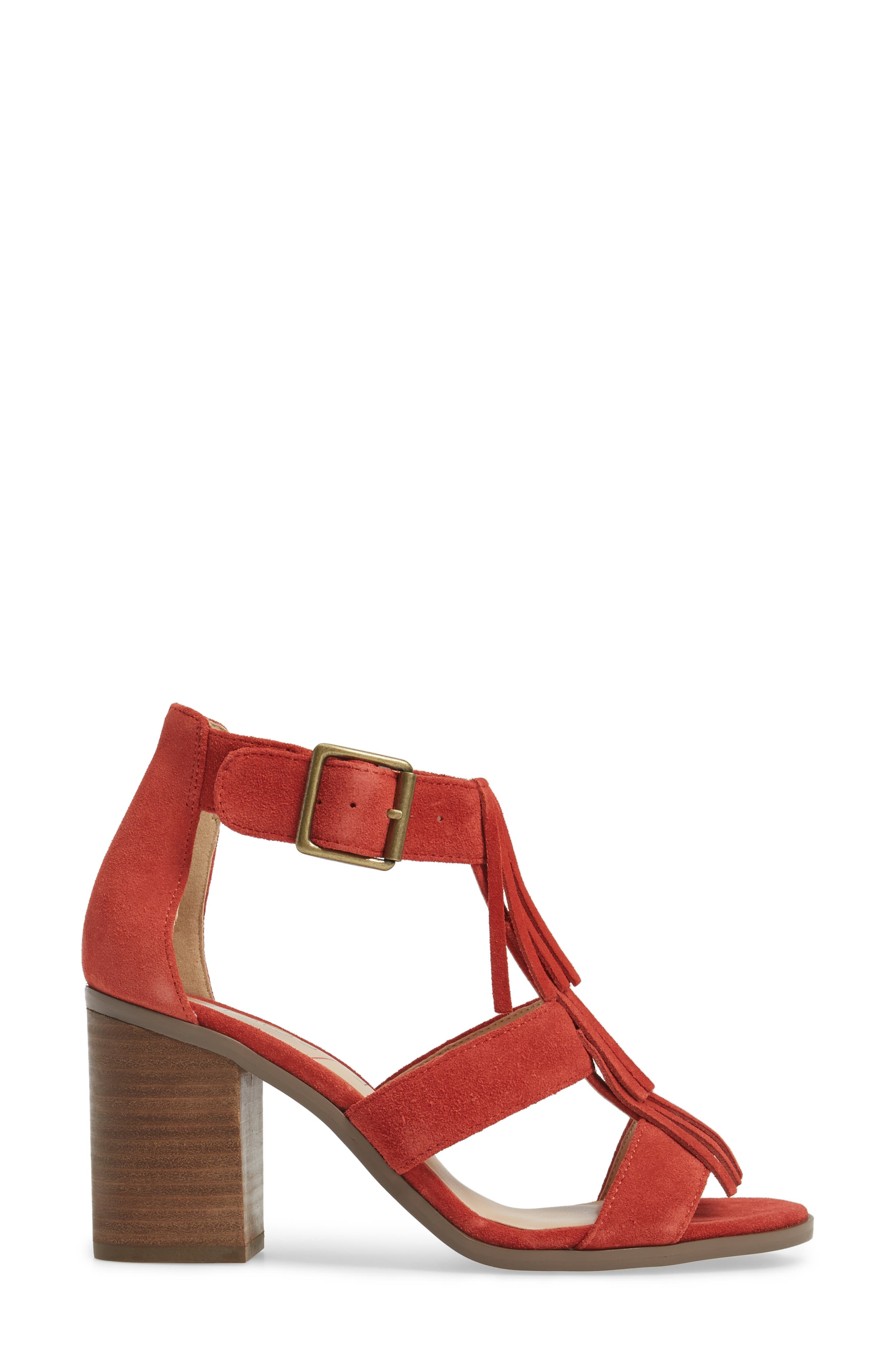 'Delilah' Fringe Sandal,                             Alternate thumbnail 18, color,