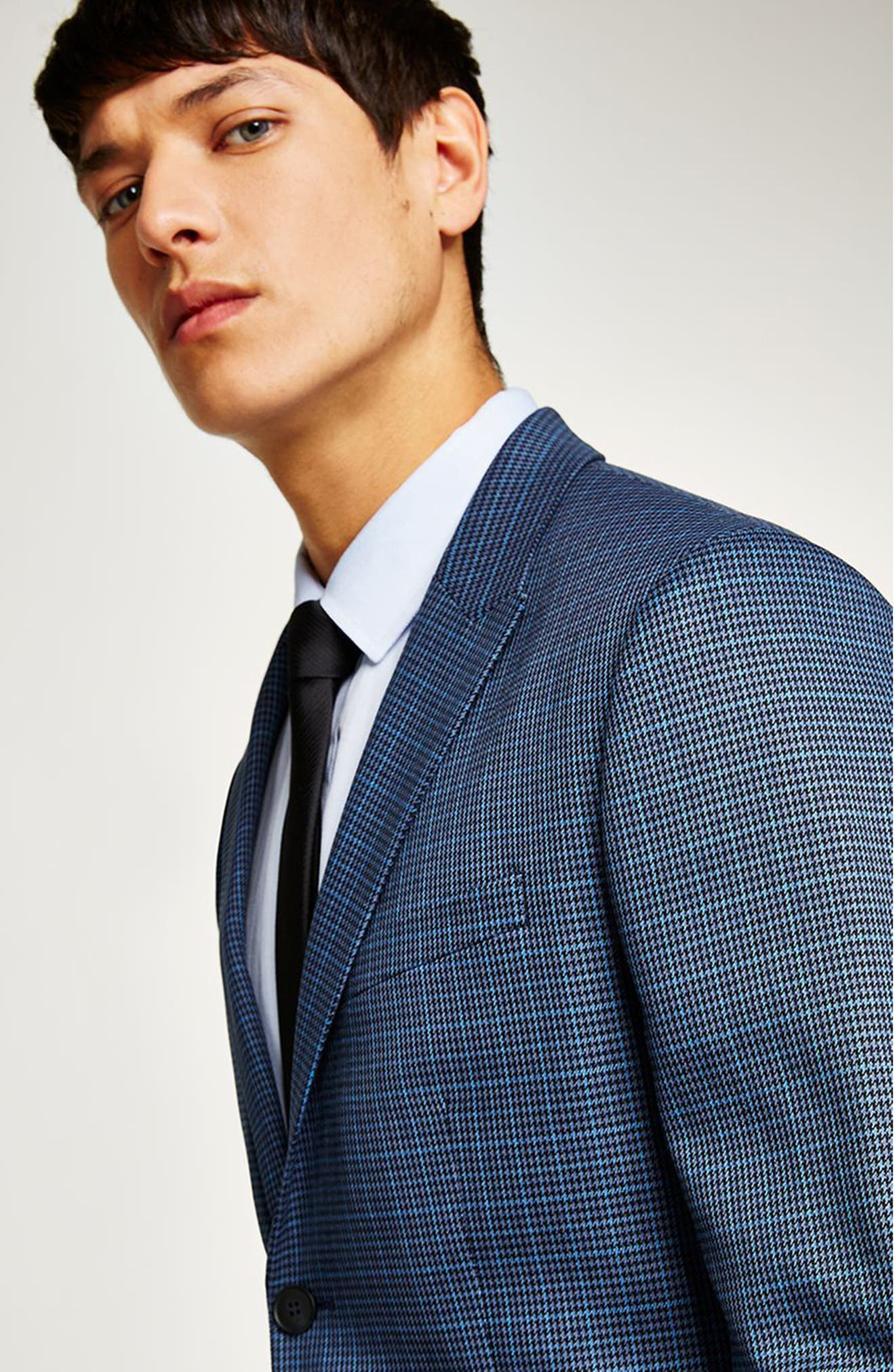 Check Skinny Fit Suit Jacket,                             Alternate thumbnail 4, color,