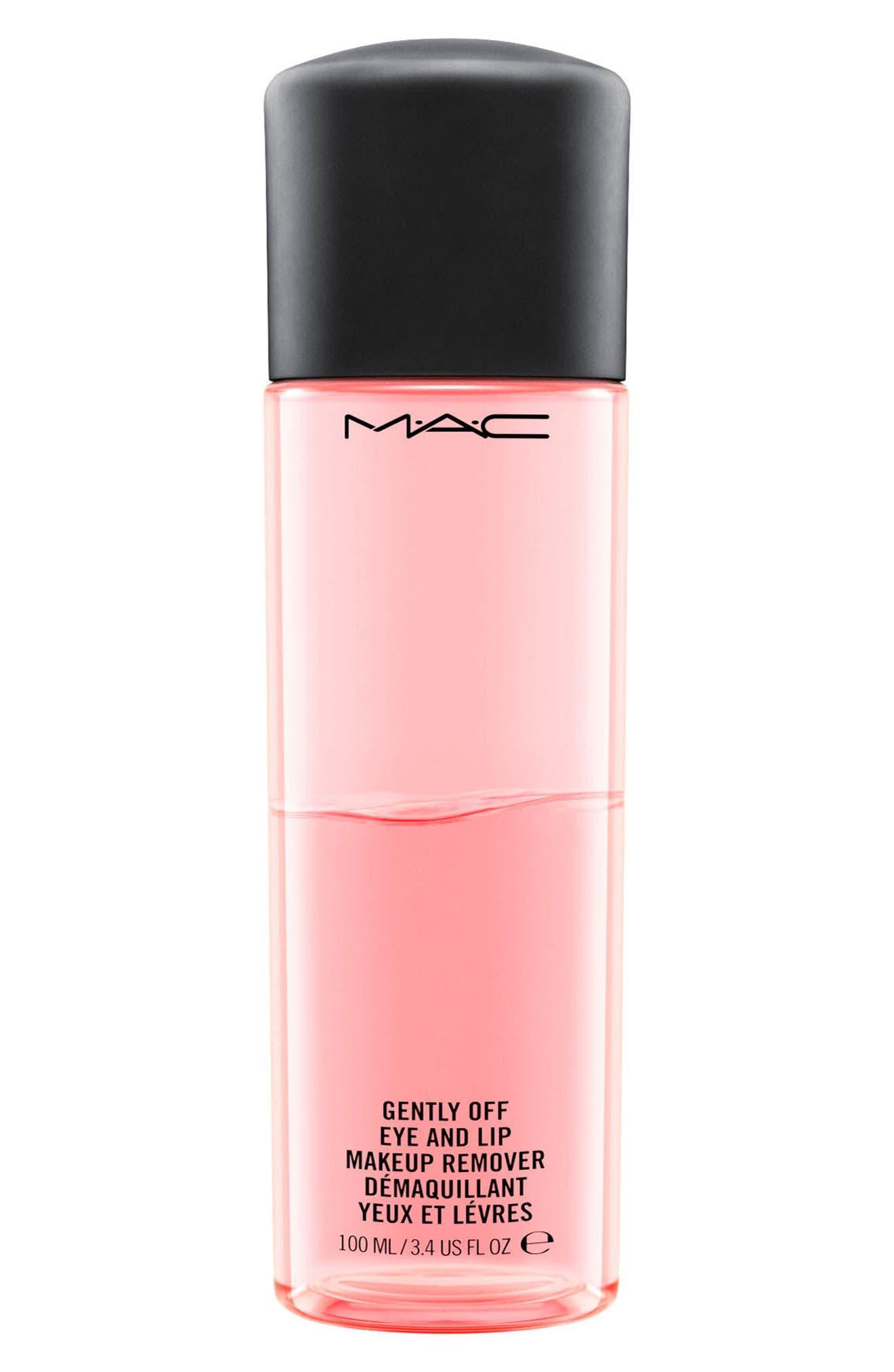 MAC COSMETICS,                             MAC Gently Off Eye & Lip Makeup Remover,                             Main thumbnail 1, color,                             NO COLOR