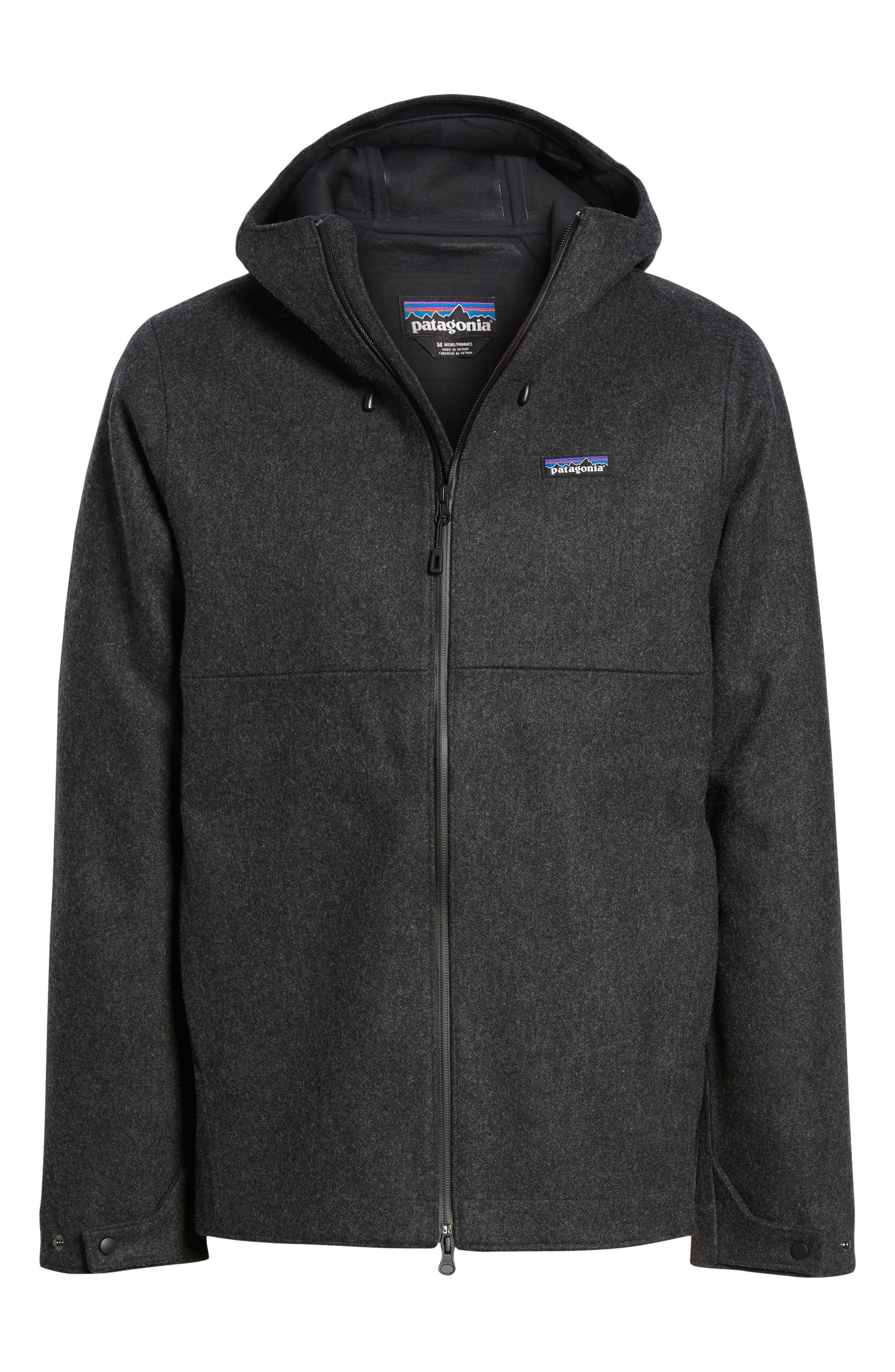 Woolyester Hooded Jacket,                             Alternate thumbnail 6, color,                             FORGE GREY