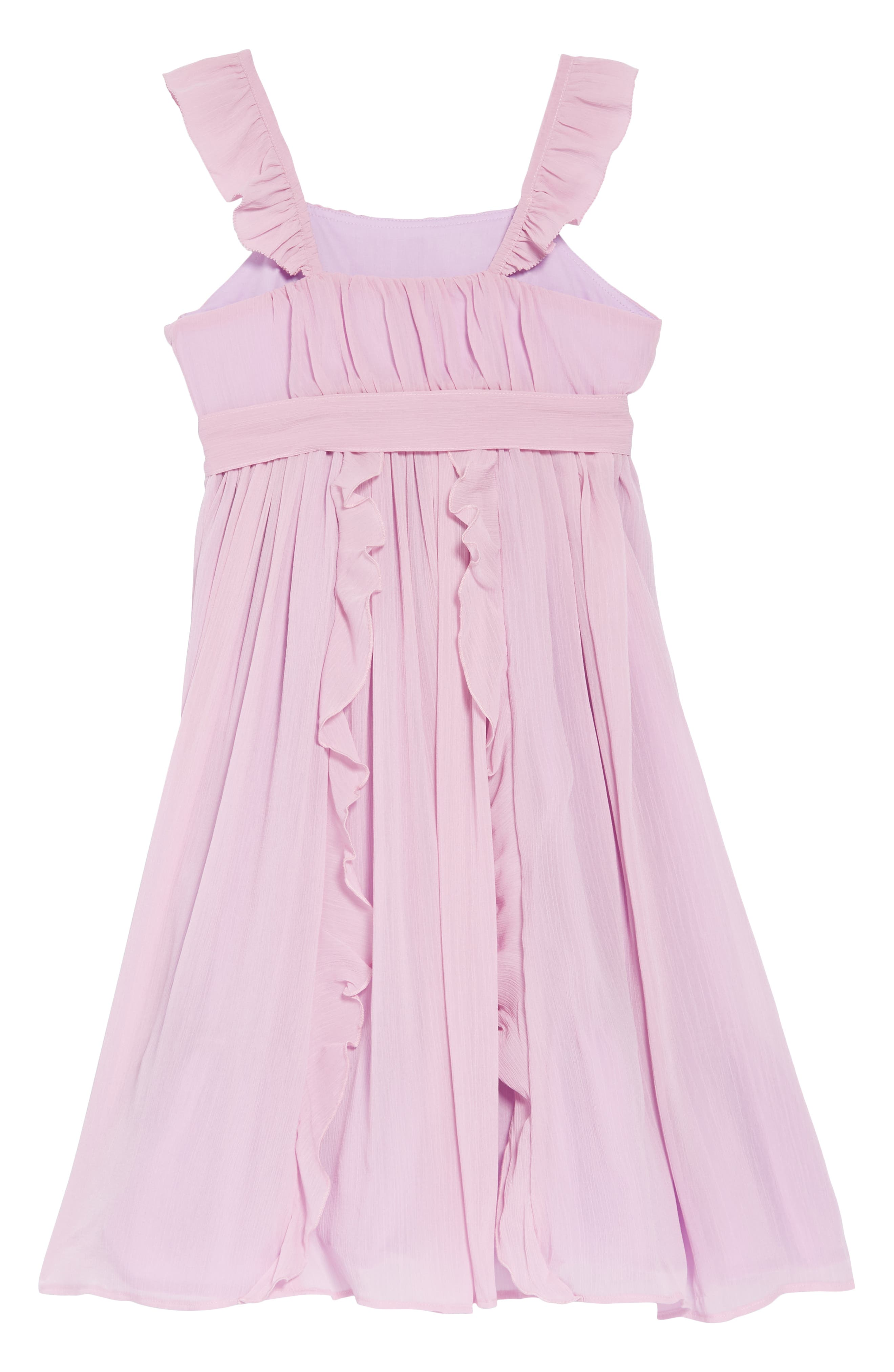 Ruffle Trim Chiffon Dress,                             Alternate thumbnail 2, color,                             SMOKY WISTERIA