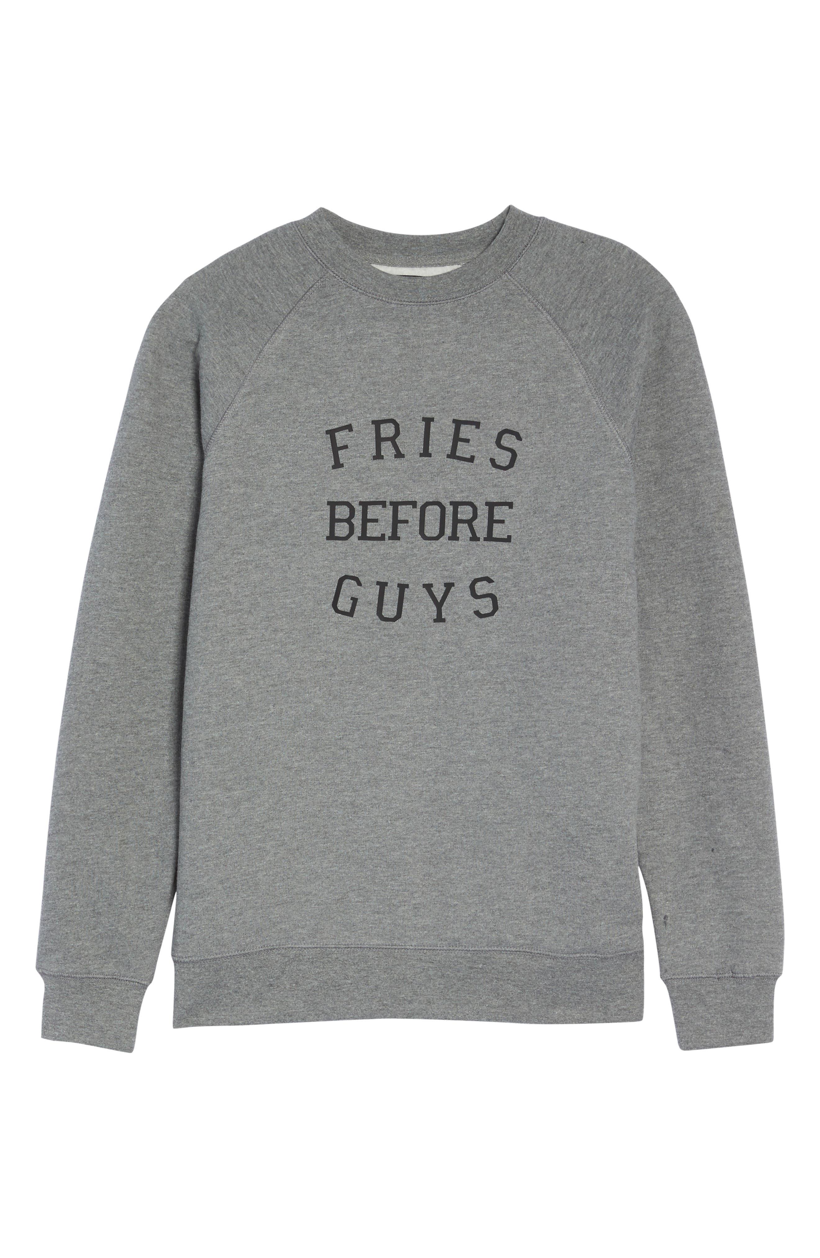 Fries Before Guys Sweatshirt,                             Alternate thumbnail 6, color,                             020