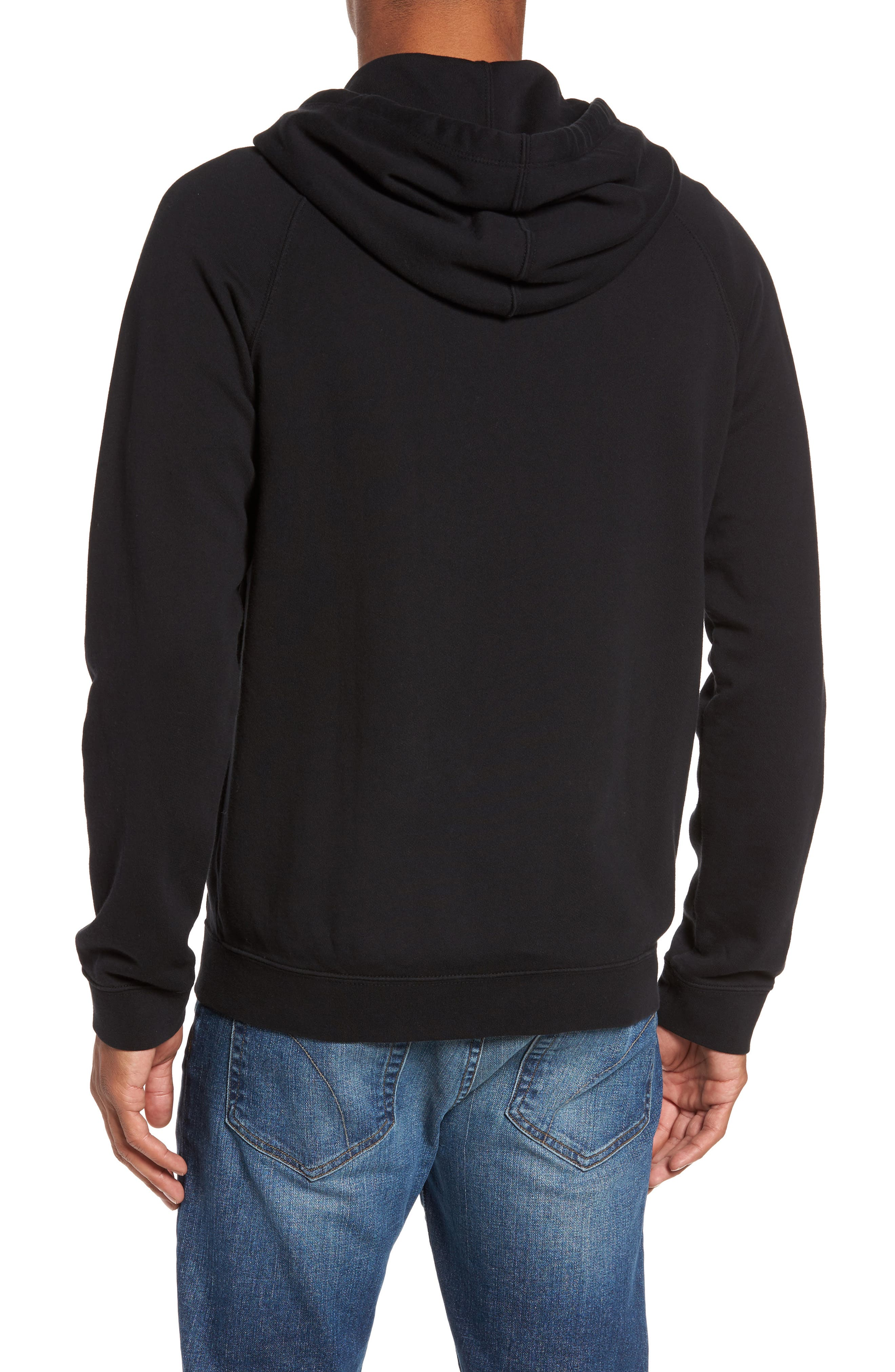 French Terry Zip Hoodie,                             Alternate thumbnail 2, color,                             001